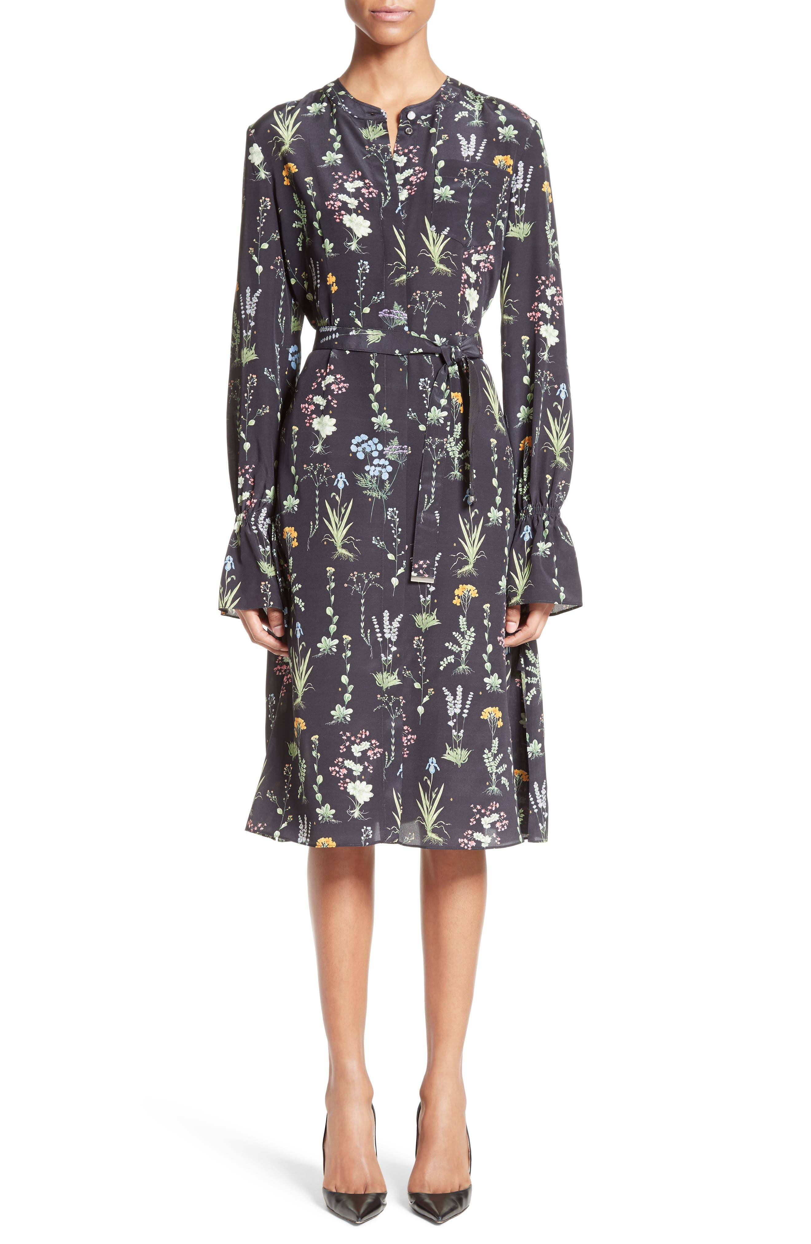 Altuzarra Leighton Floral Print Silk Dress