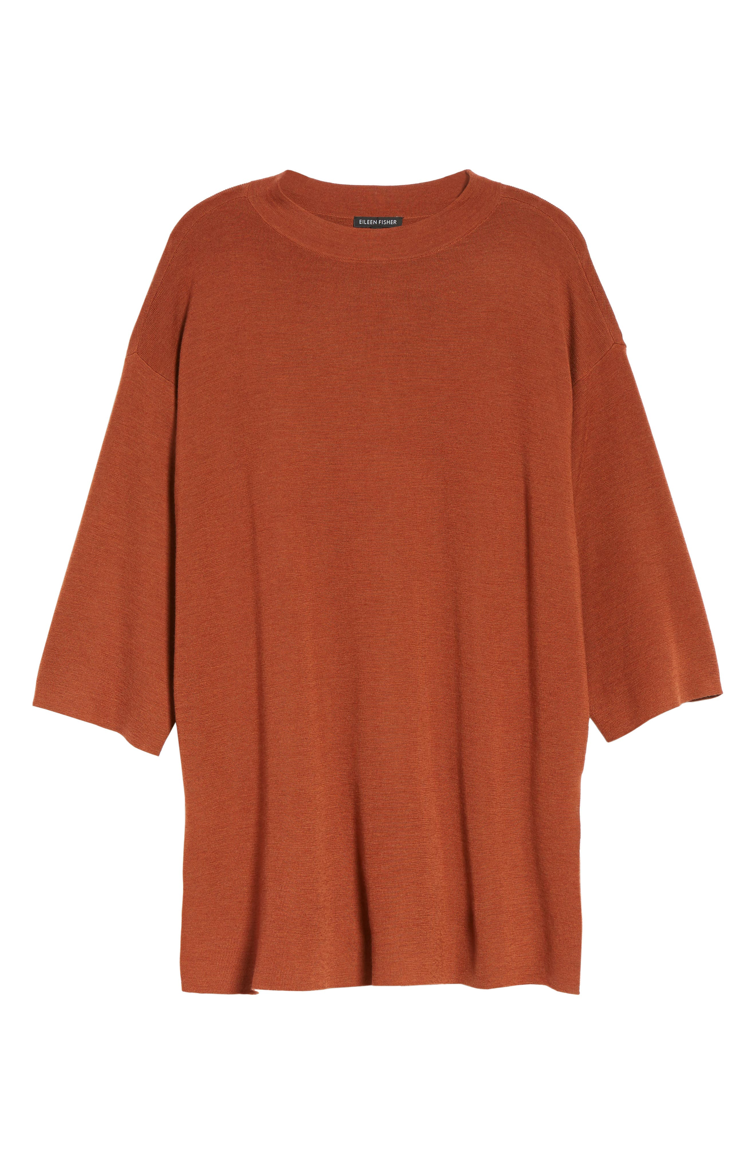 Alternate Image 6  - Eileen Fisher Merino Wool Tunic