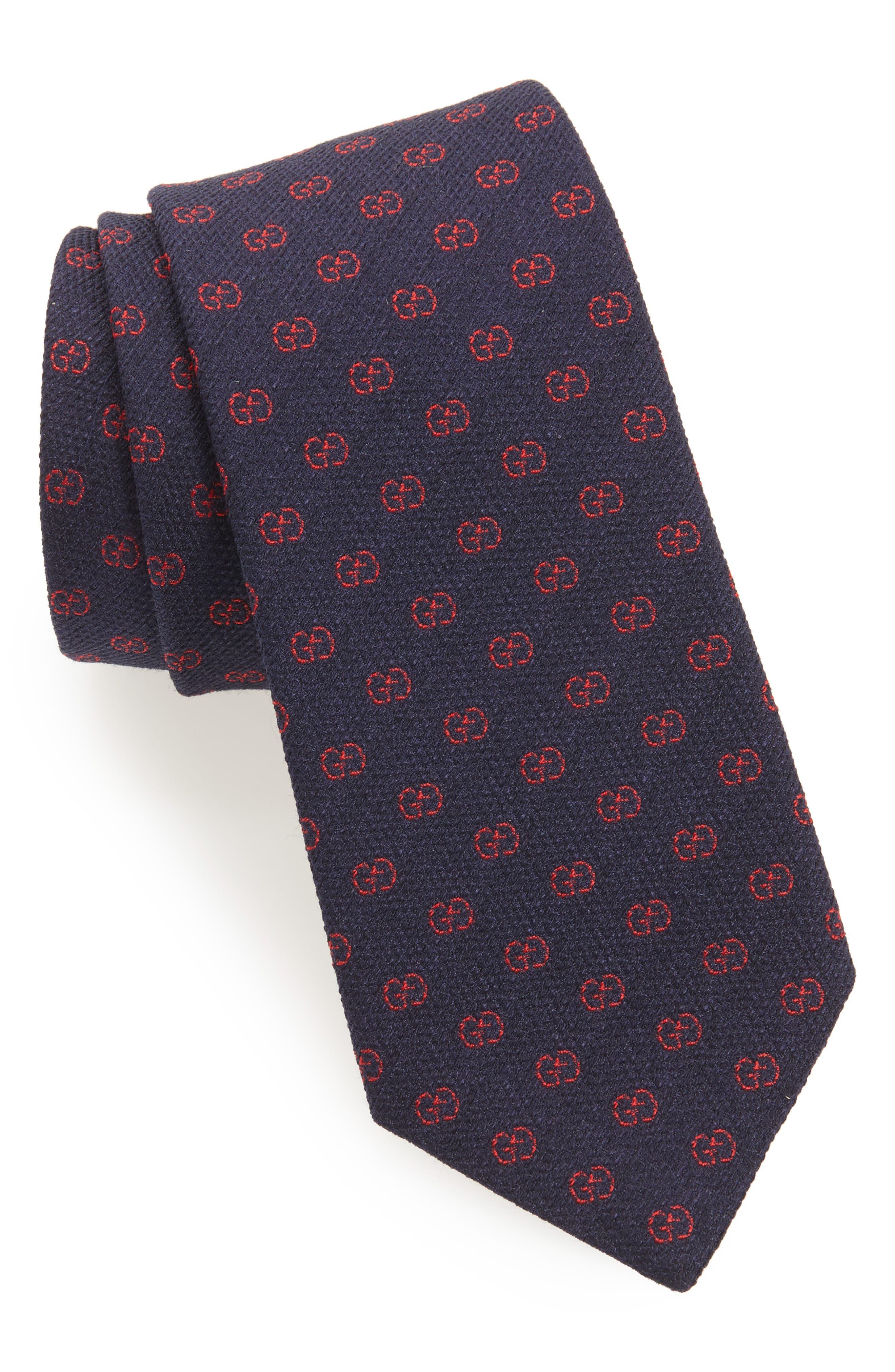 Gucci GG Brit Jacquard Tie