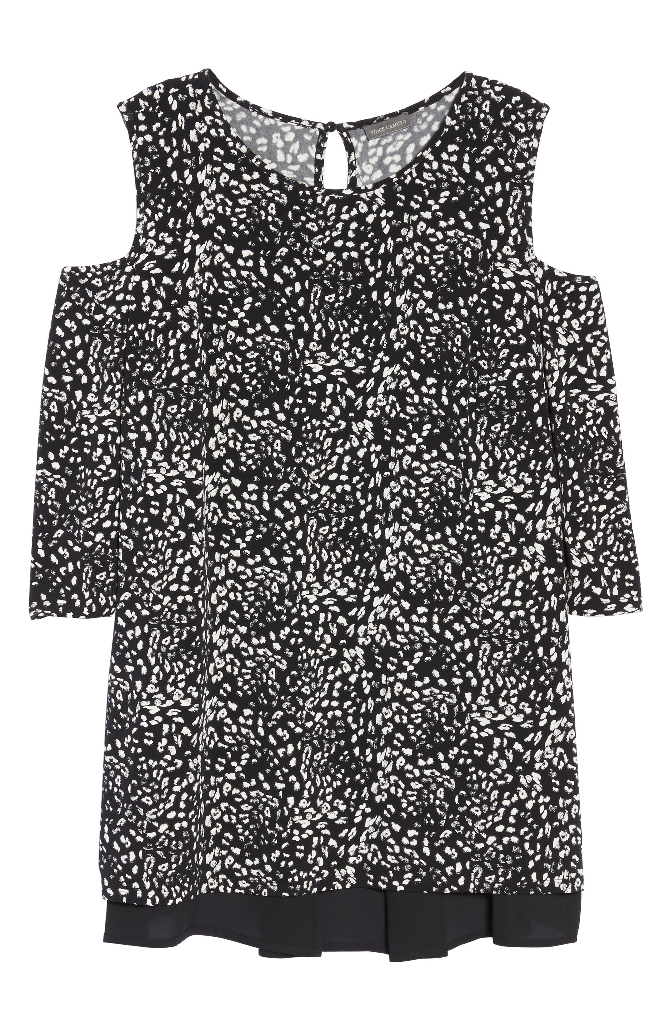 Alternate Image 6  - Vince Camuto Animal Whispers Cold Shoulder Top (Plus Size)