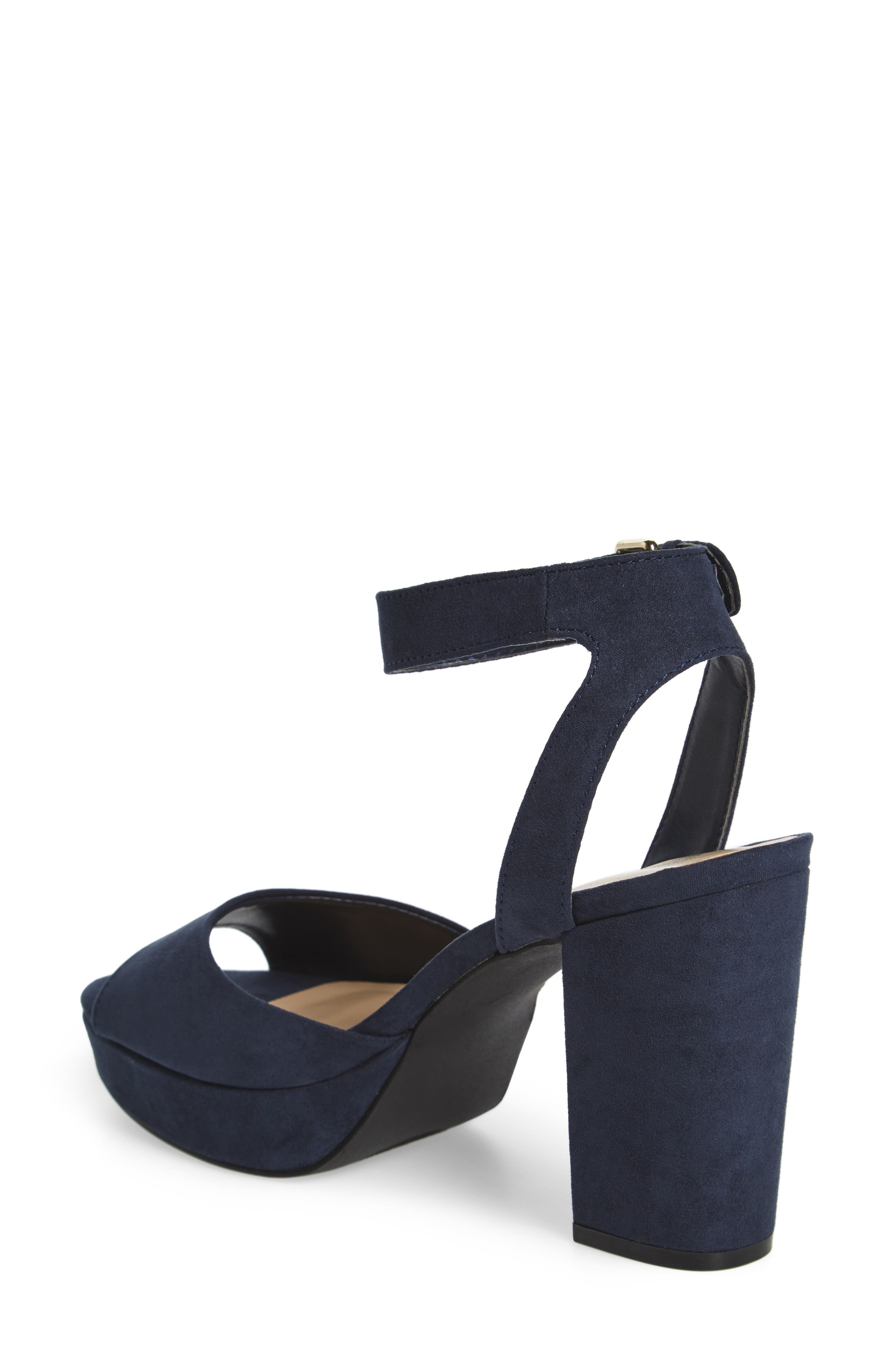 Jerzy Platform Sandal,                             Alternate thumbnail 2, color,                             Navy Synthetic