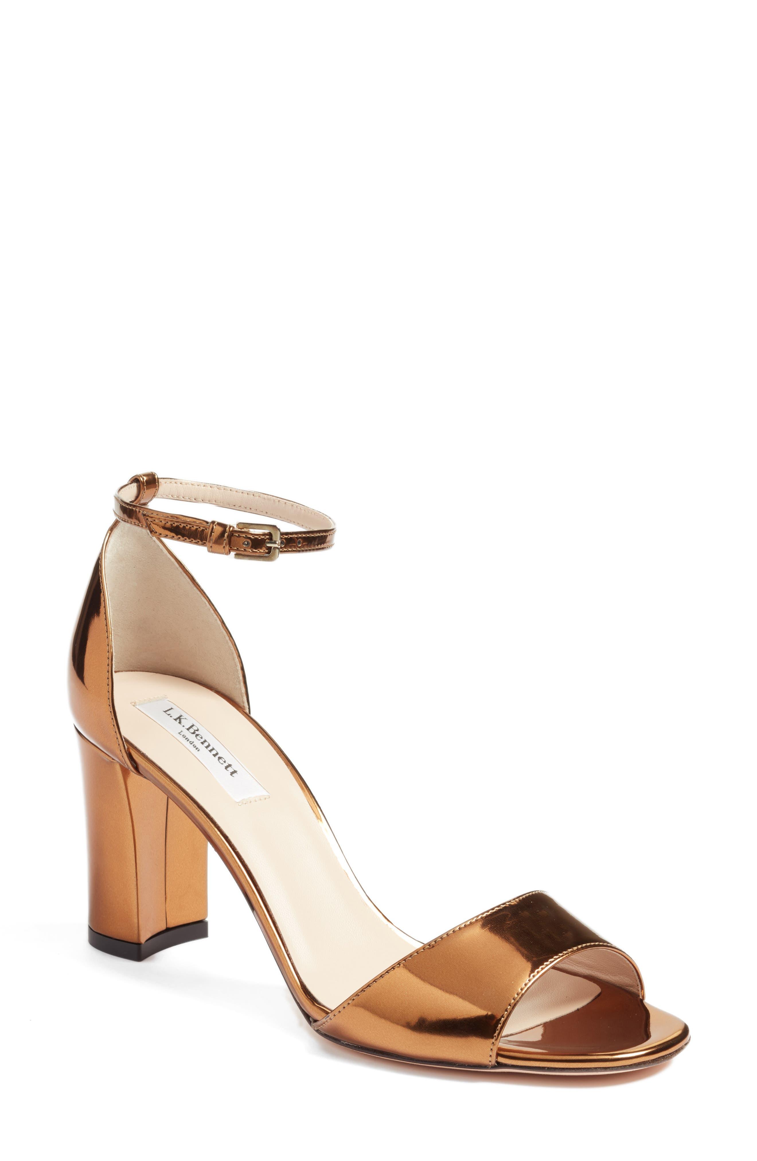 Main Image - L.K. Bennett 'Helena' Ankle Strap Block Heel Sandal (Women)