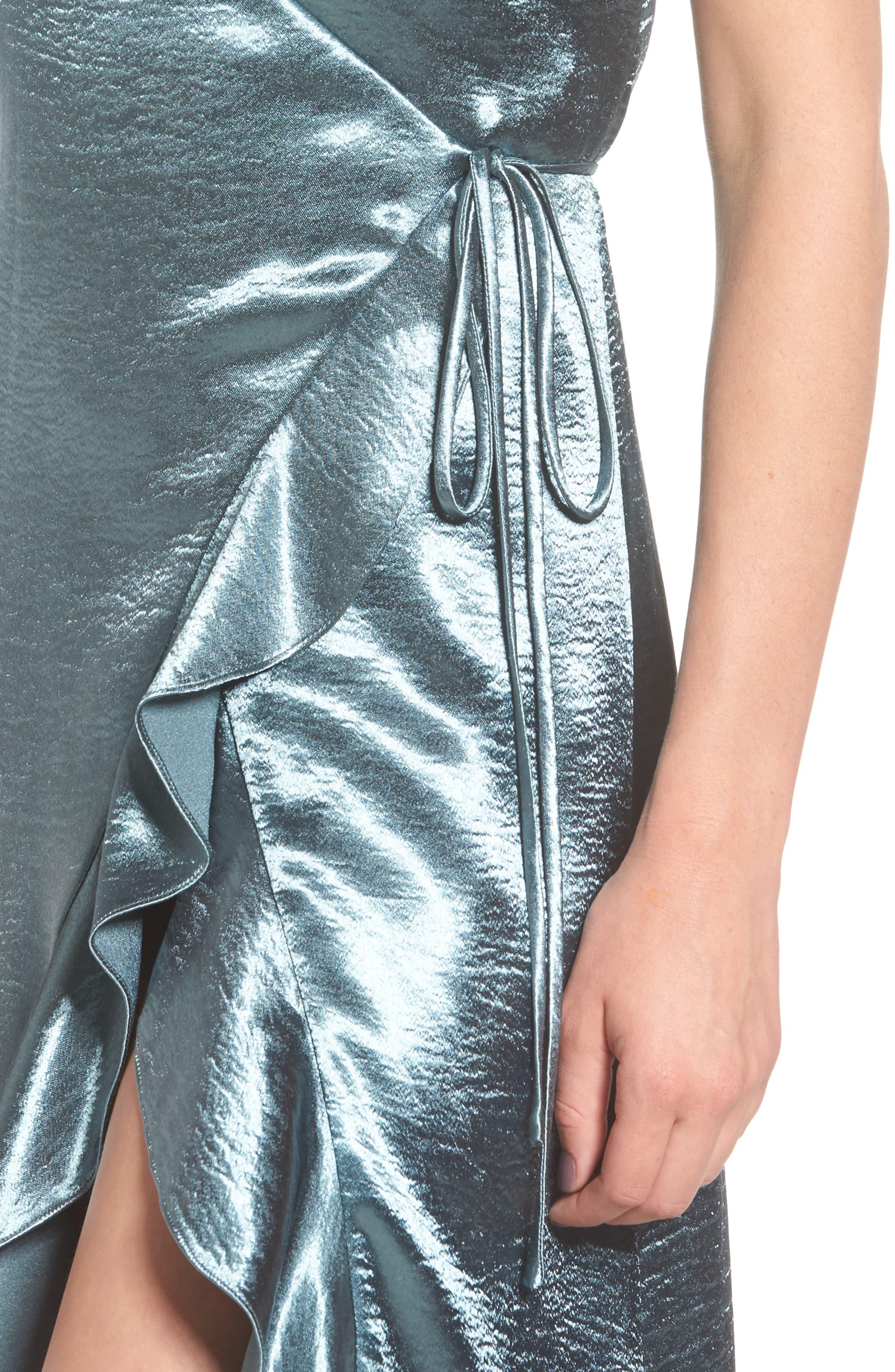 Alternate Image 4  - Privacy Please Pelican Wrap Maxi Dress