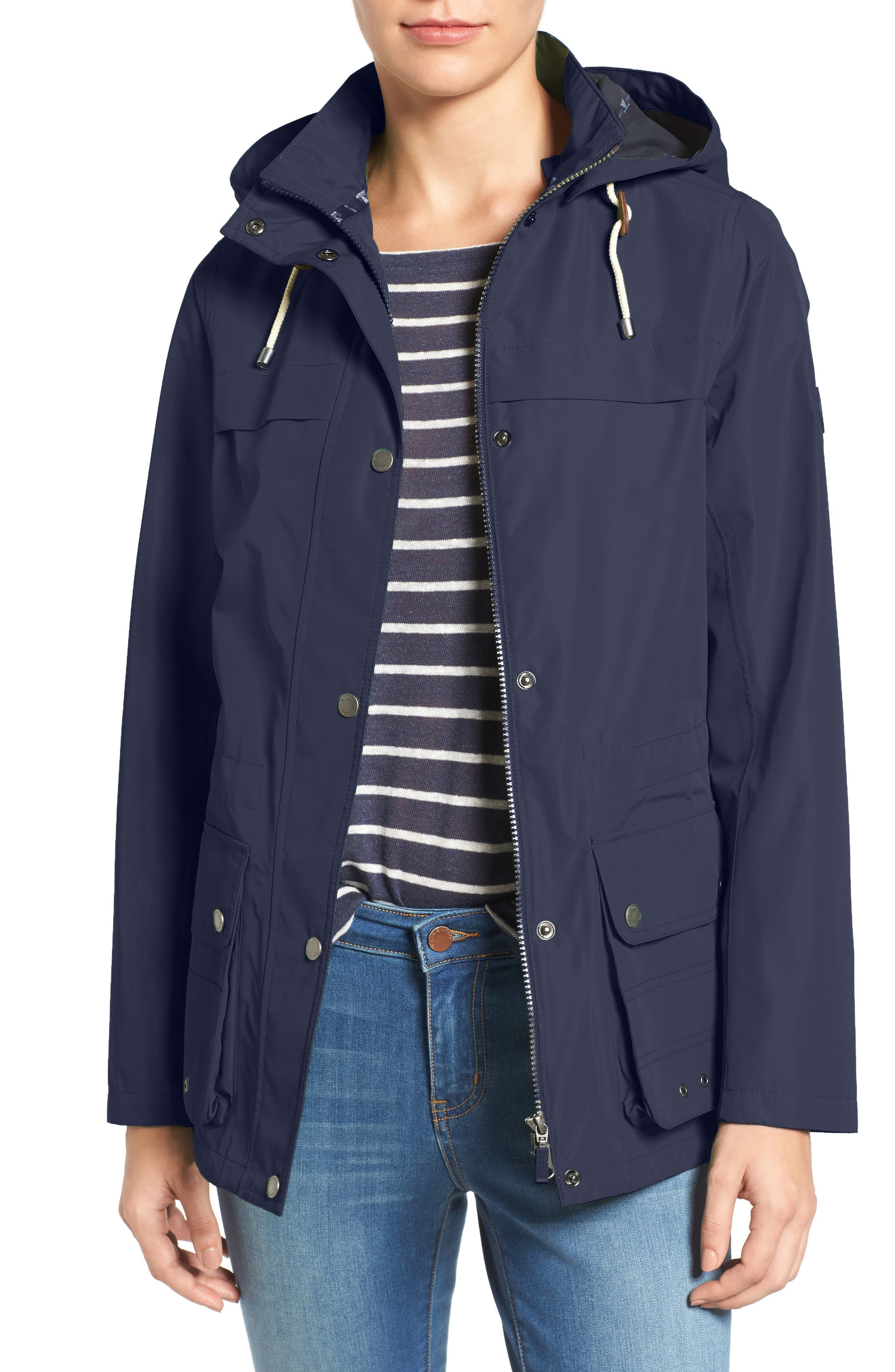 Lowmoore Raincoat,                         Main,                         color, Dark Navy