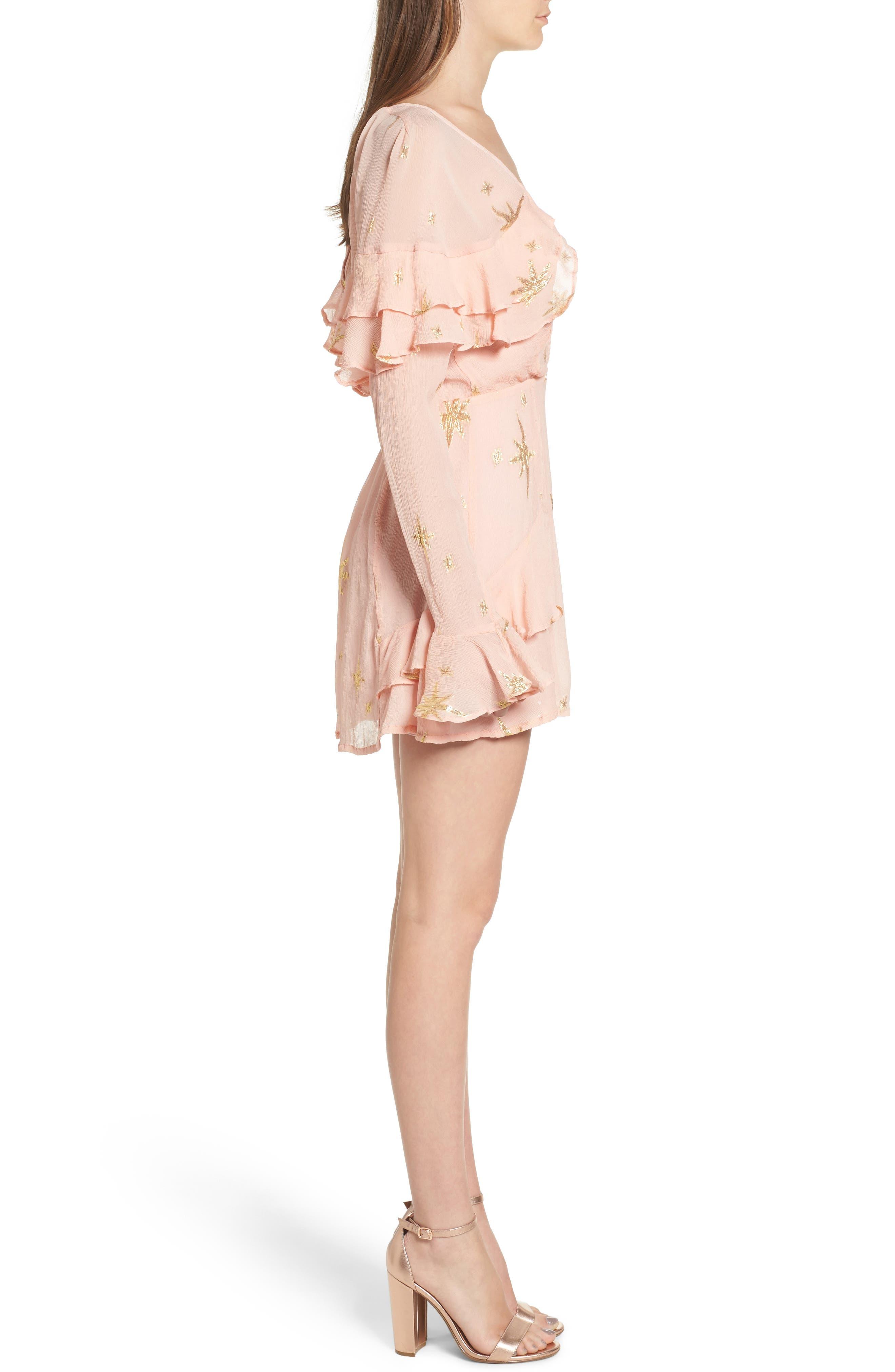 Alternate Image 3  - For Love & Lemons Gilded Star Minidress