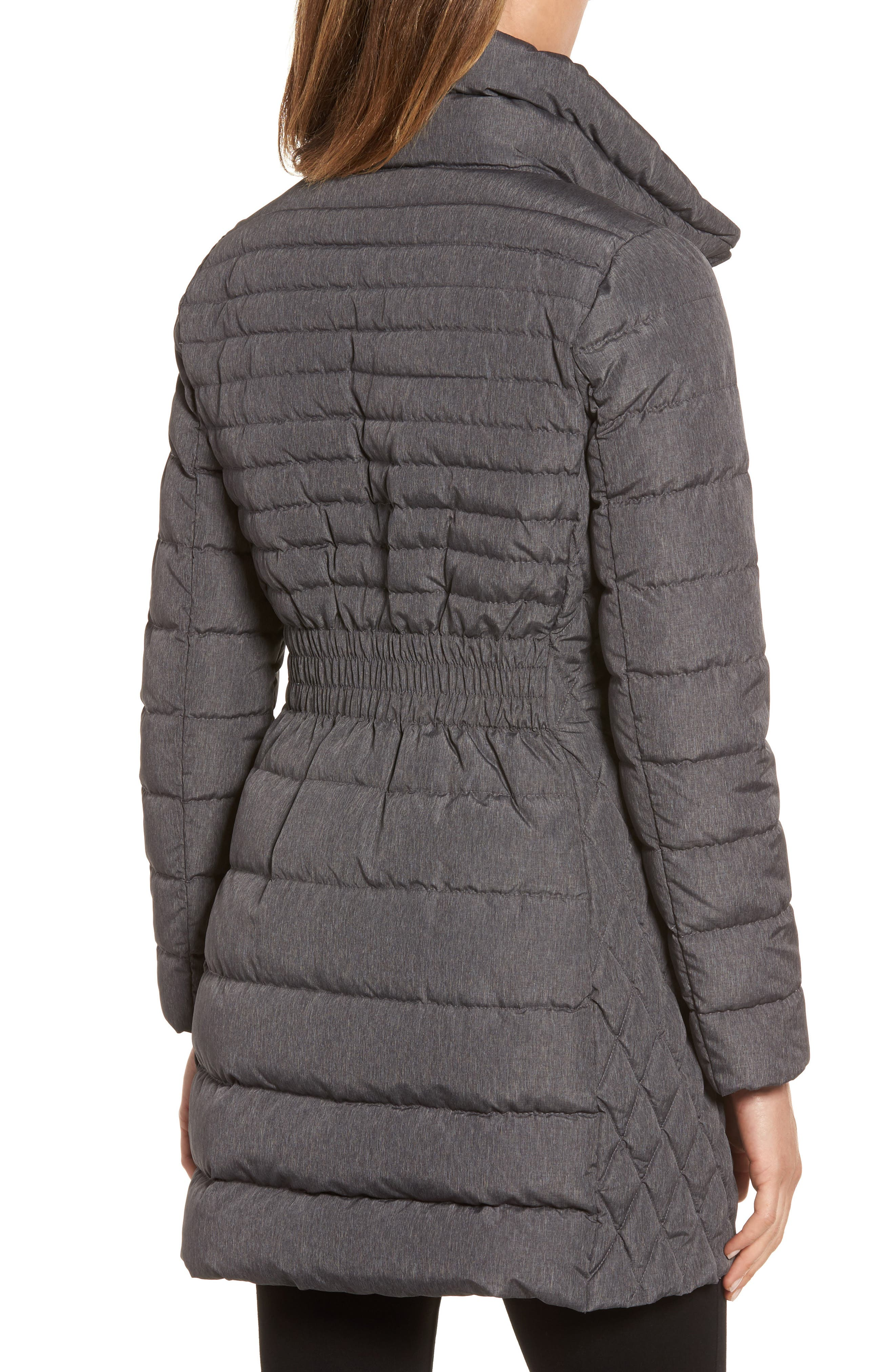 Water Repellent Packable Puffer Coat,                             Alternate thumbnail 2, color,                             Charcoal
