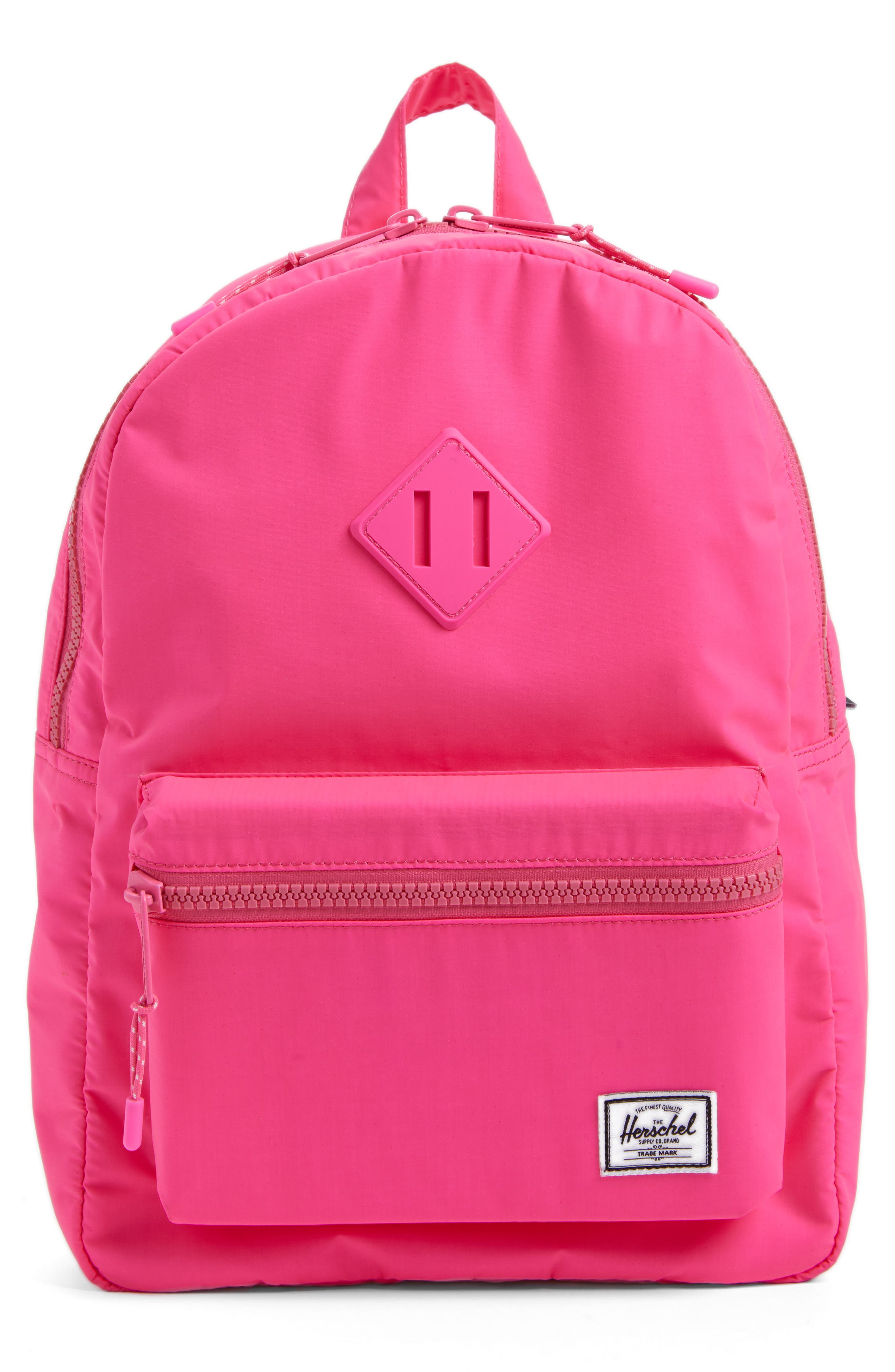 Heritage Backpack,                             Main thumbnail 1, color,                             Neon Pink Rubber