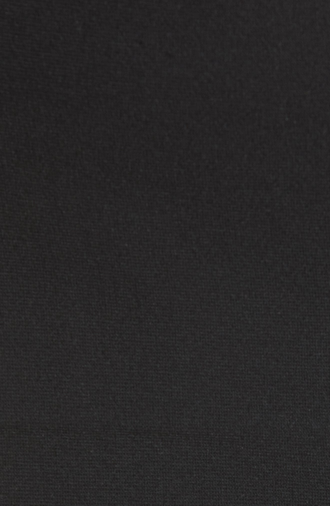 Layered Knit Off the Shoulder Dress,                             Alternate thumbnail 5, color,                             Black
