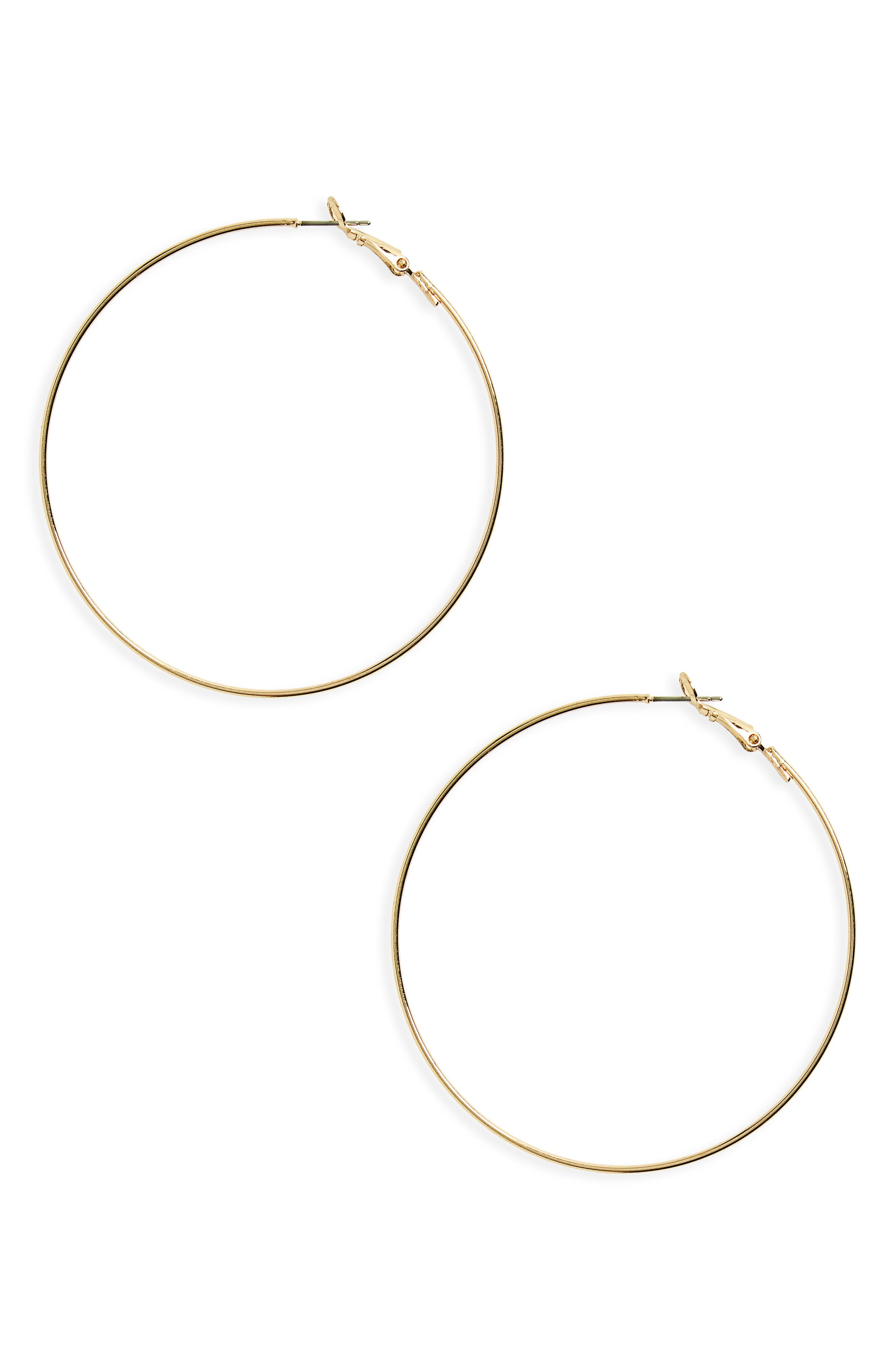 Alternate Image 1 Selected - BP. Hoop Earrings