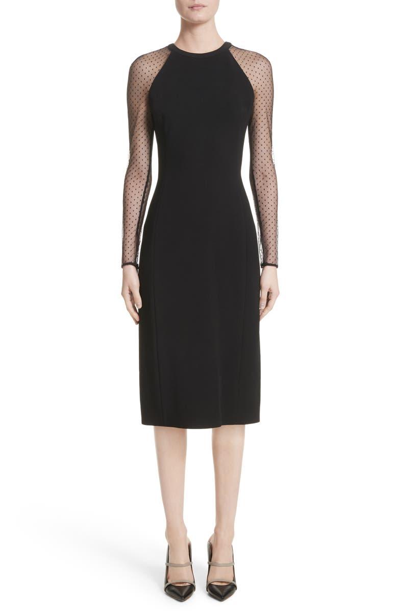 Swiss Dot Sleeve Dress