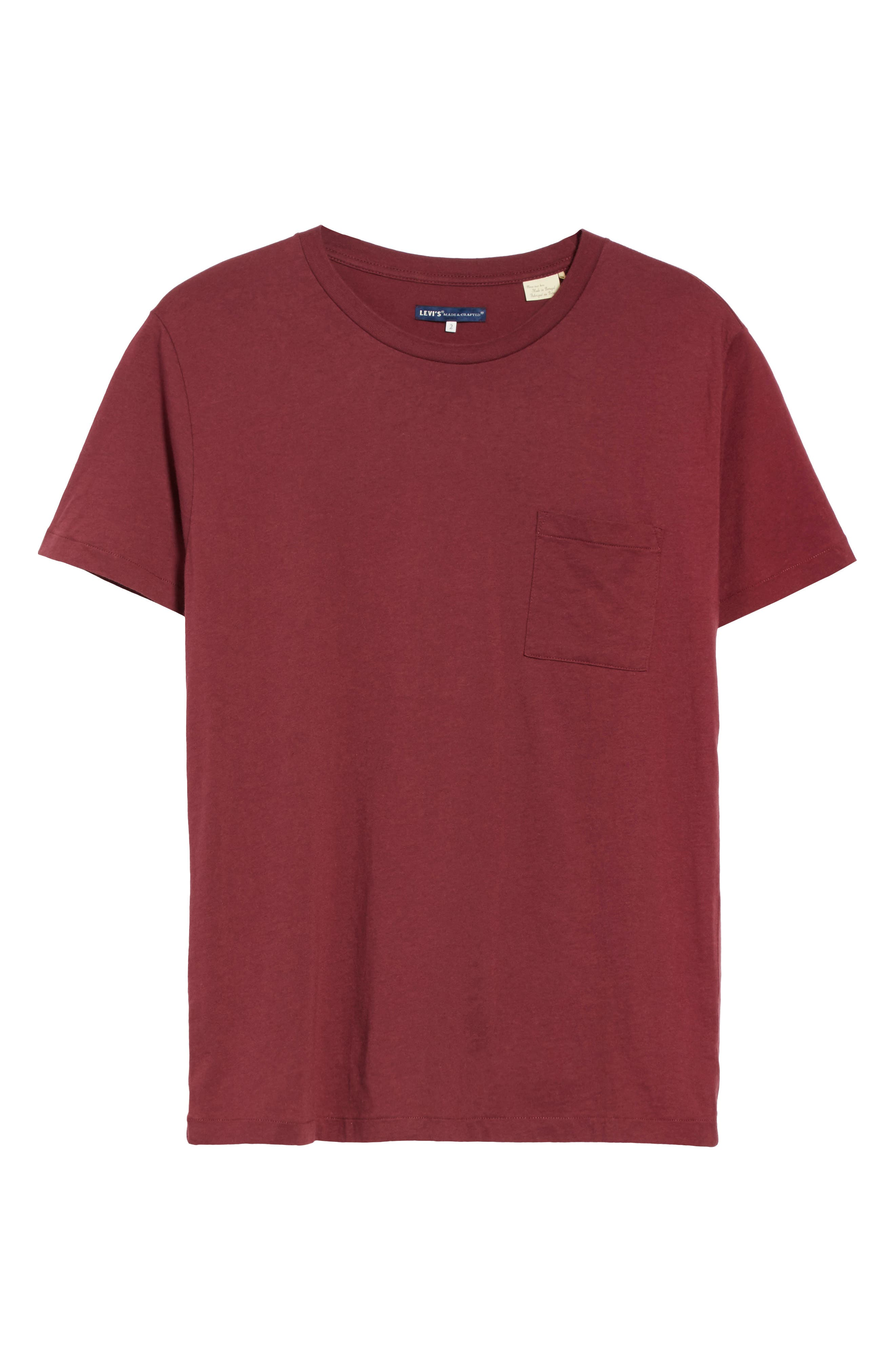 Pocket T-Shirt,                             Alternate thumbnail 6, color,                             Red