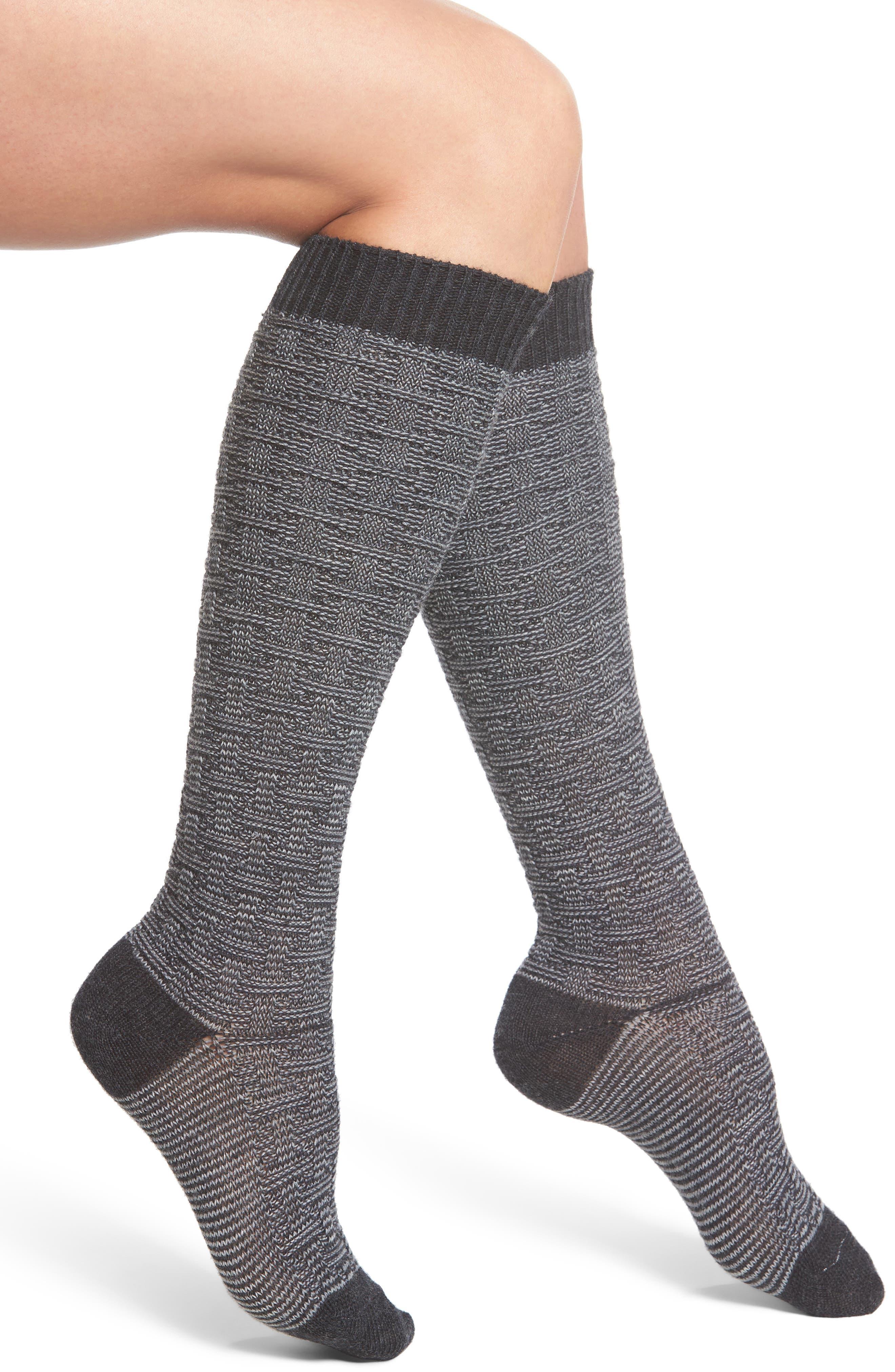 Ryn Knee High Socks,                         Main,                         color, Oxford