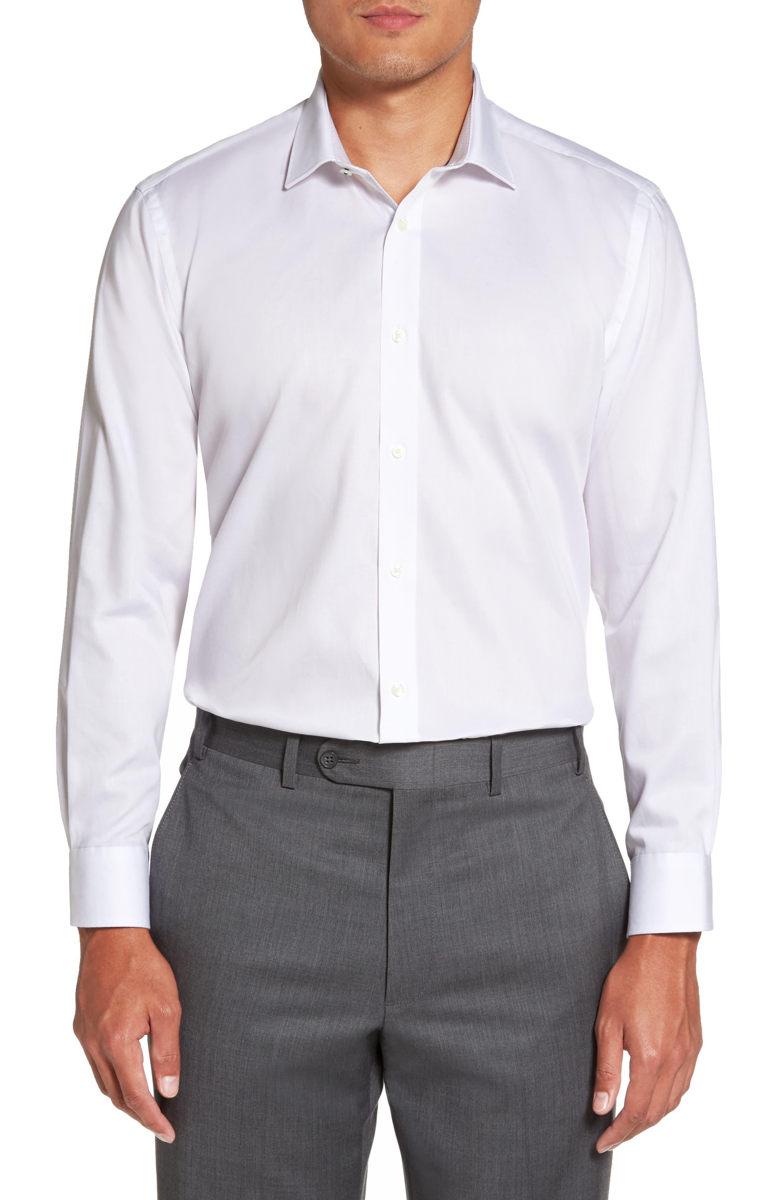 Ted Baker London Caramor Trim Fit Solid Dress Shirt
