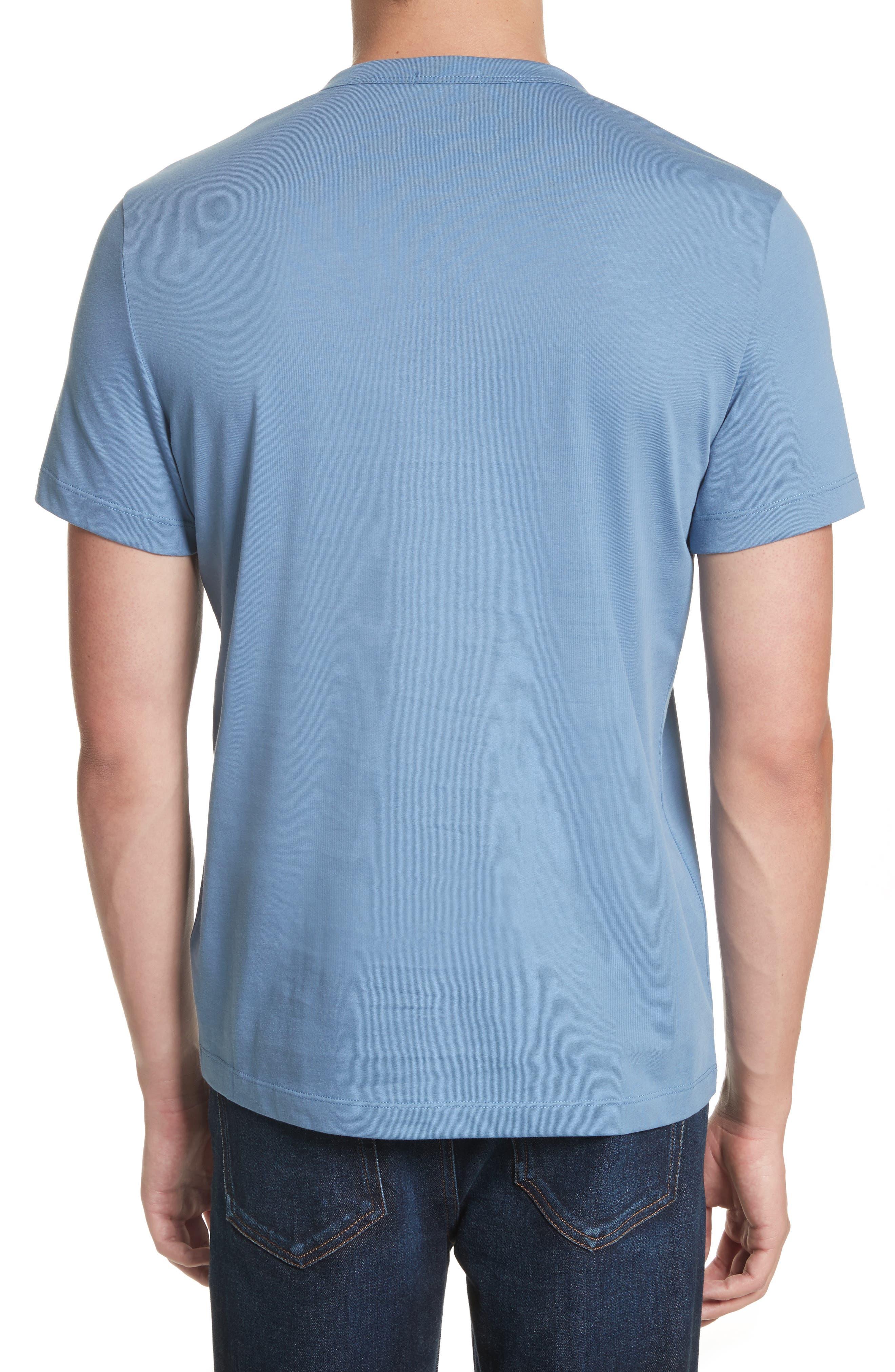 Maglia T-Shirt,                             Alternate thumbnail 2, color,                             Medium Blue