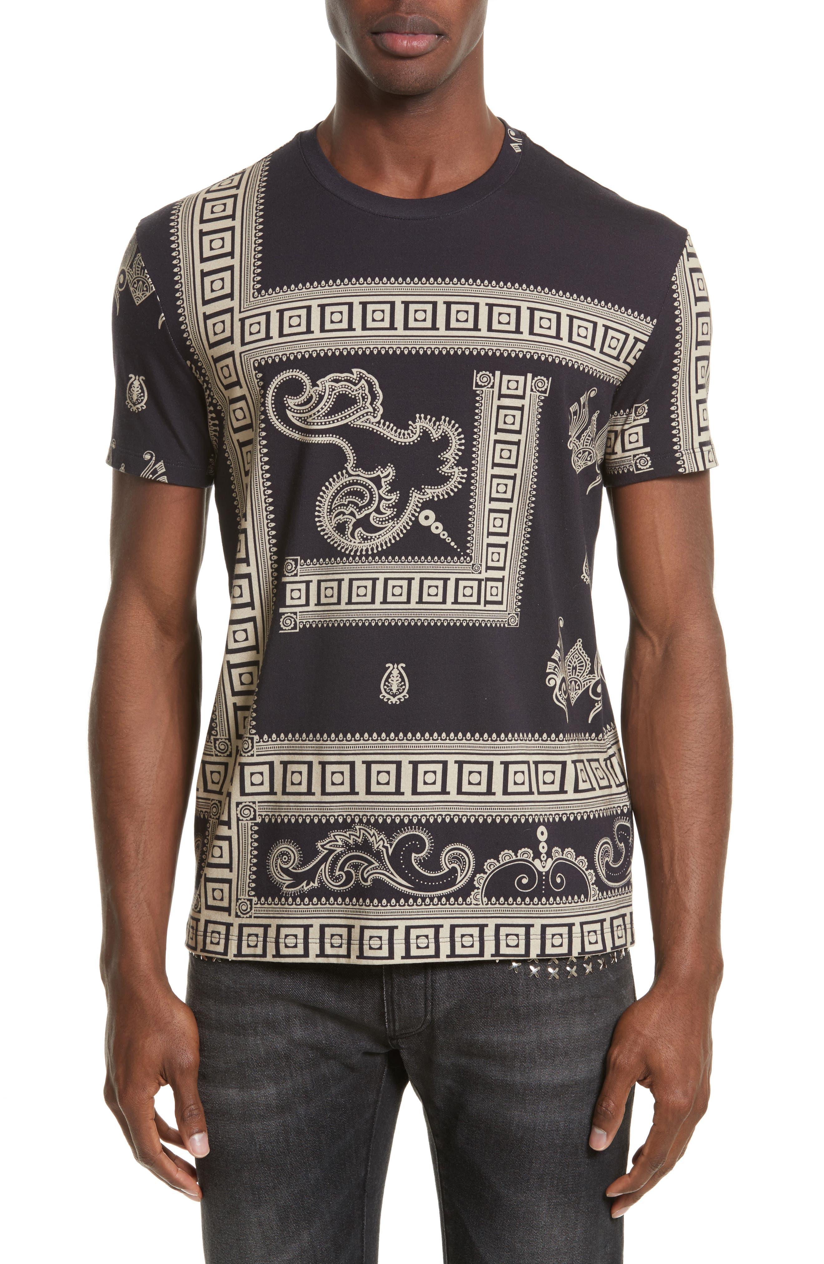 Paisley Frame Print T-Shirt,                         Main,                         color, Beige