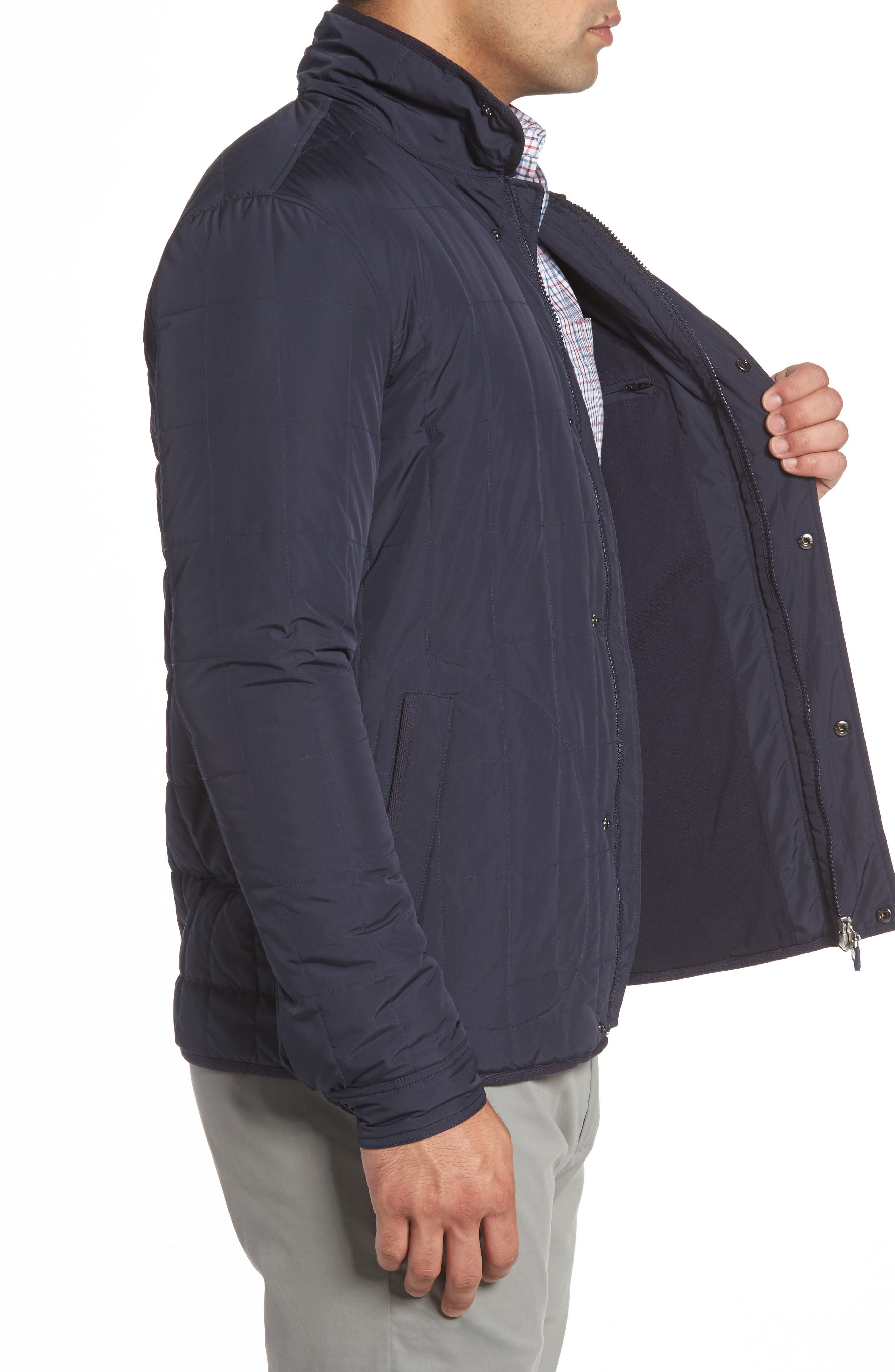 Midtown Quilted Jacket,                             Alternate thumbnail 3, color,                             Abyss