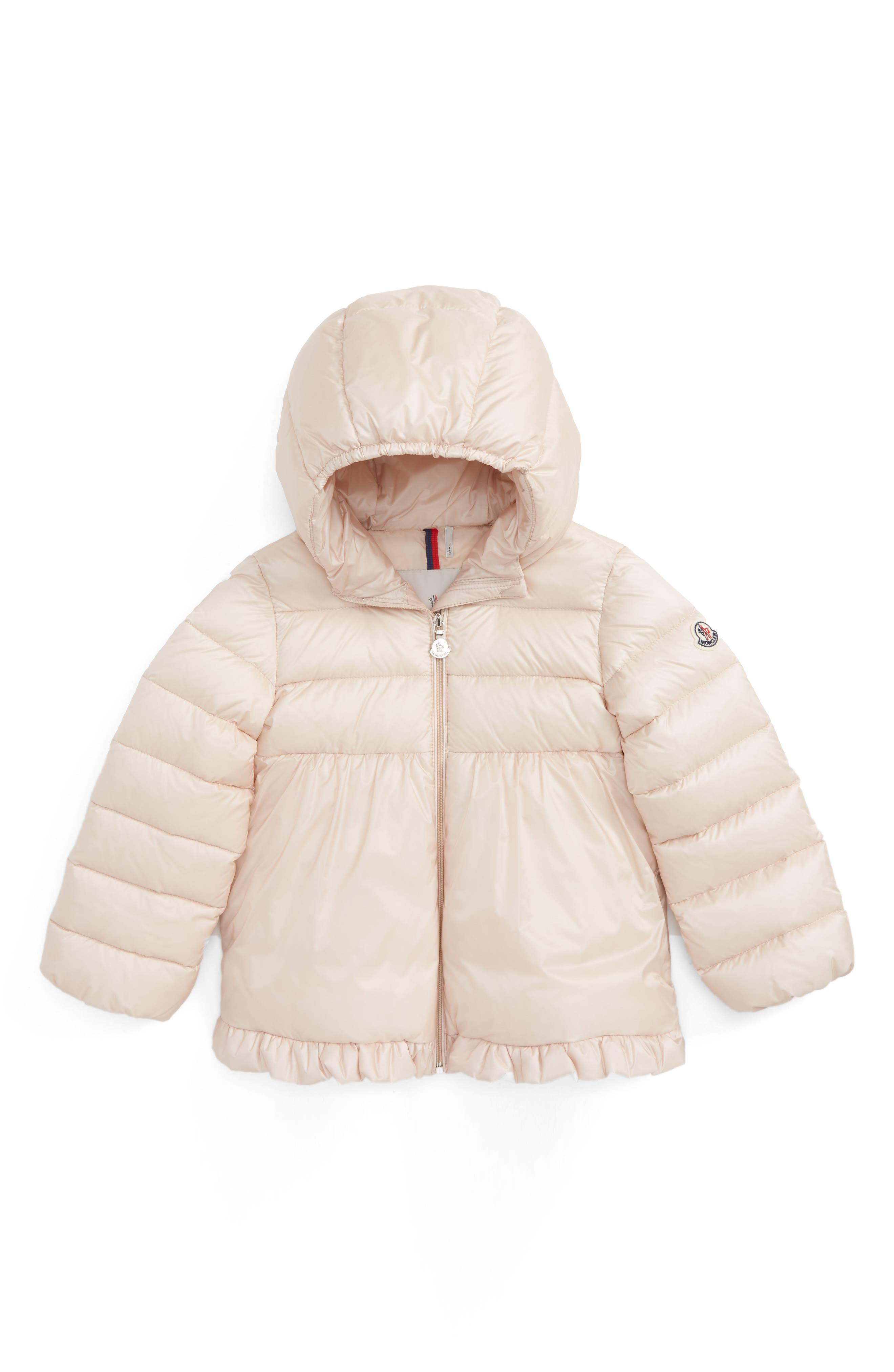 Moncler Odile Hooded Water Resistant Down Jacket (Toddler Girls)