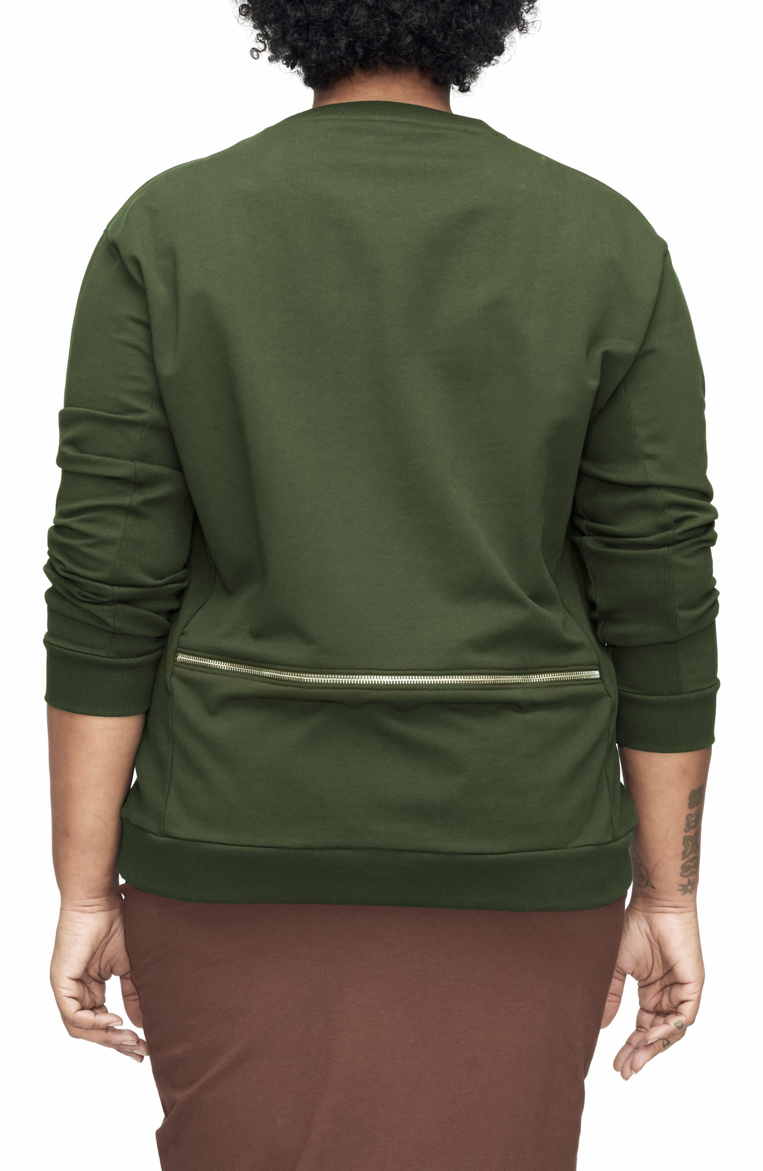 Alternate Image 2  - UNIVERSAL STANDARD Equator Zip Trim Sweatshirt (Plus Size)