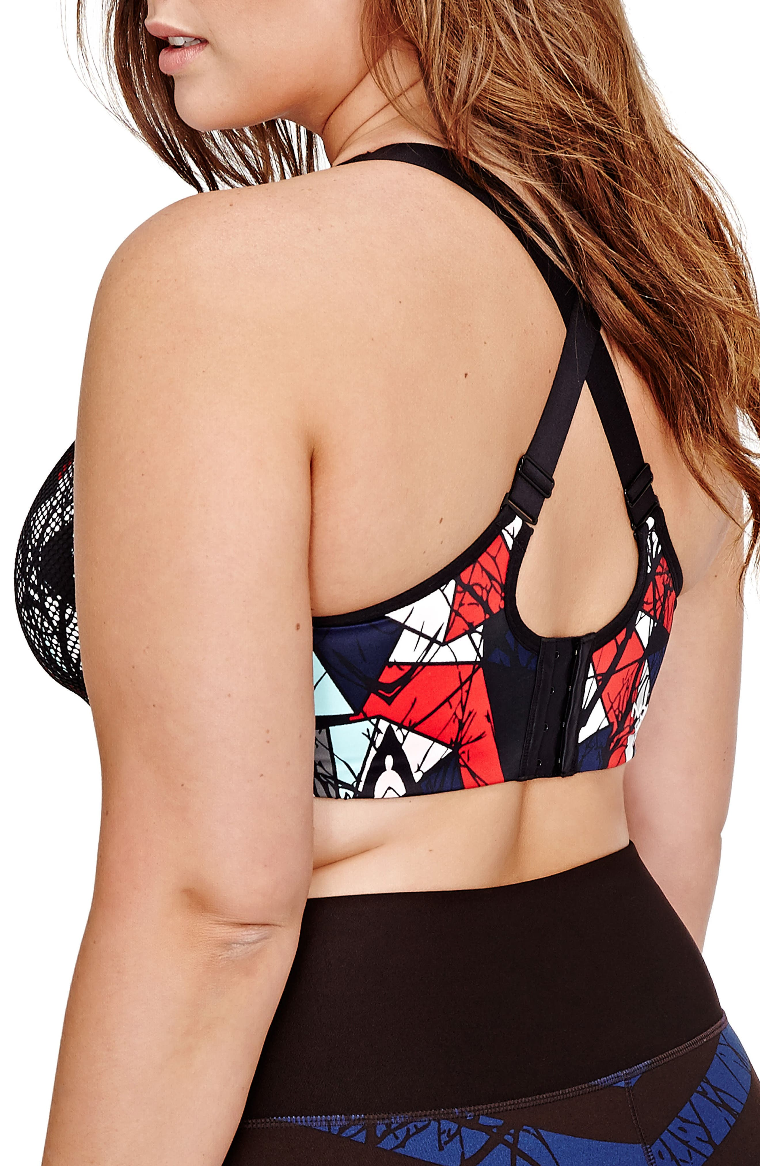 Alternate Image 3  - Nola Underwire Sports Bra (Plus Size)