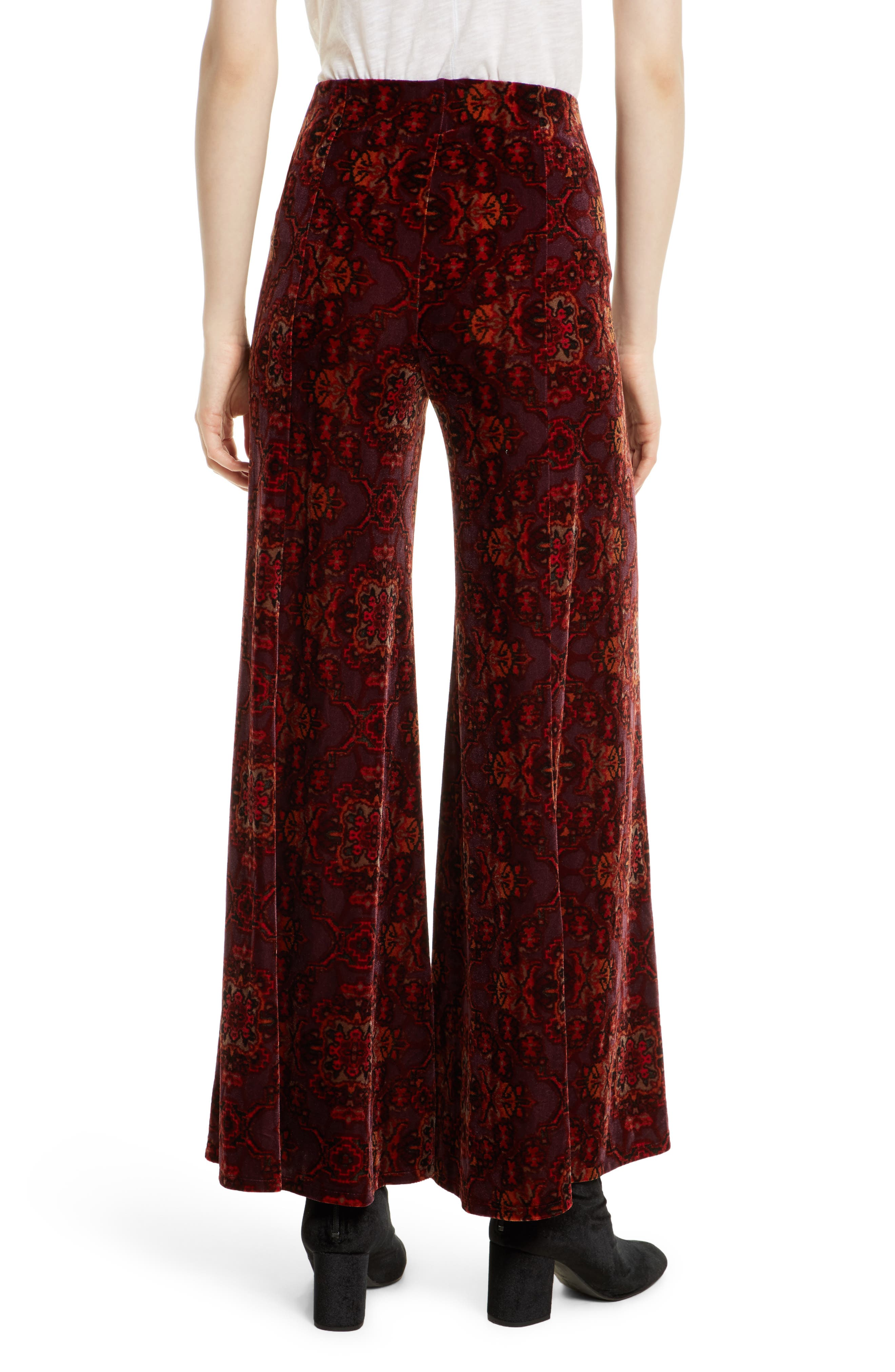 Alternate Image 3  - Free People Lovin' Feeling Velvet Wide Leg Pants