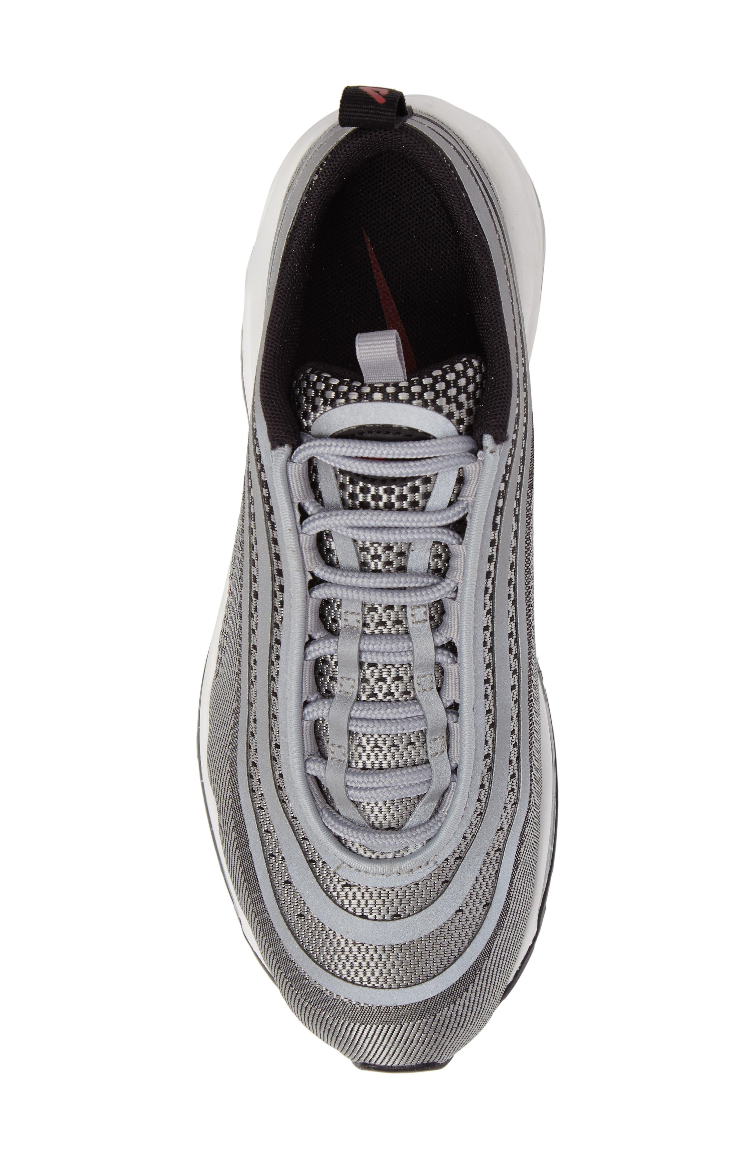 Air Max 97 Ultralight 2017 Sneaker,                             Alternate thumbnail 5, color,                             Metallic Silver/ Varsity Red