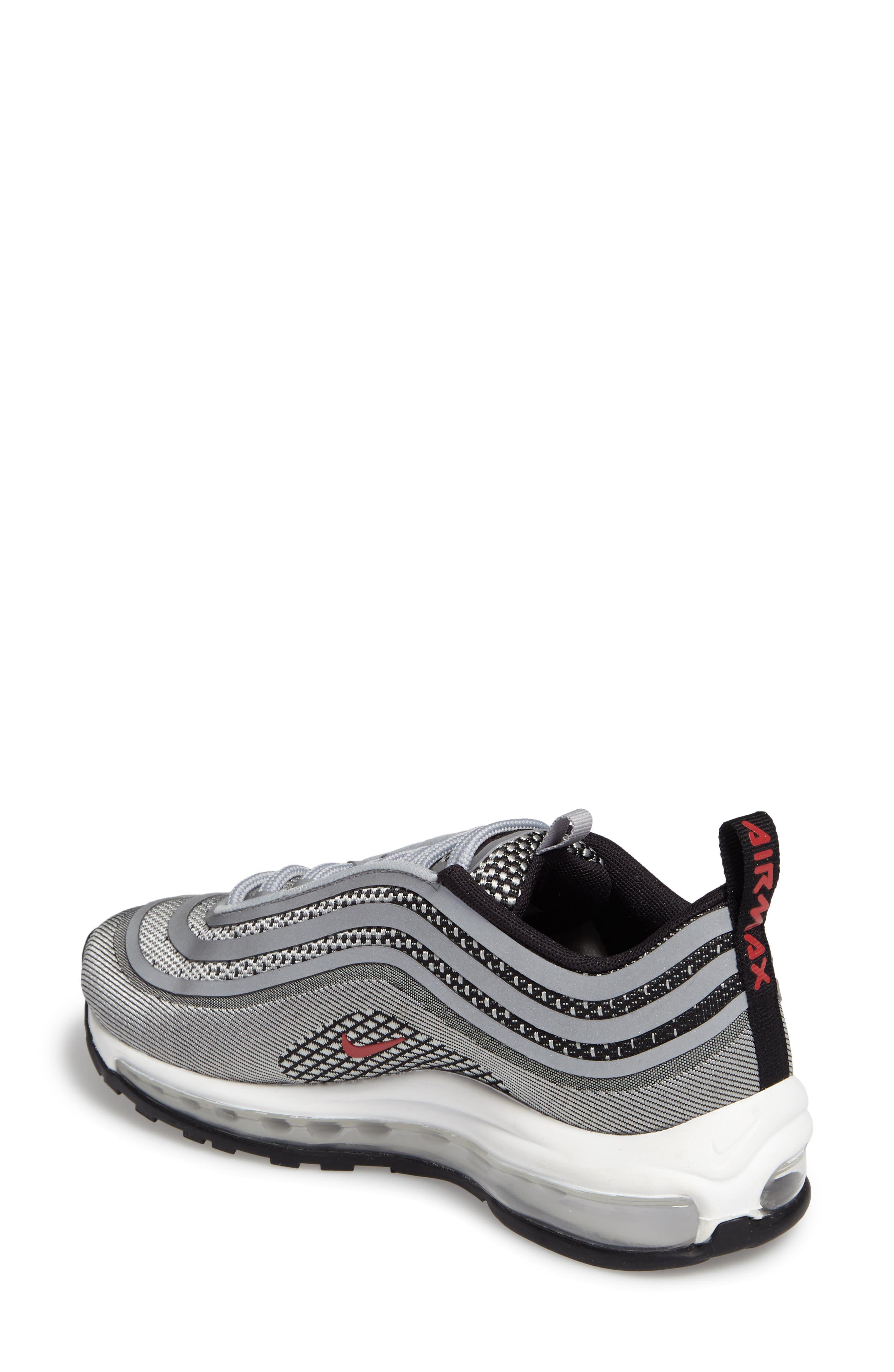 Air Max 97 Ultralight 2017 Sneaker,                             Alternate thumbnail 2, color,                             Metallic Silver/ Varsity Red