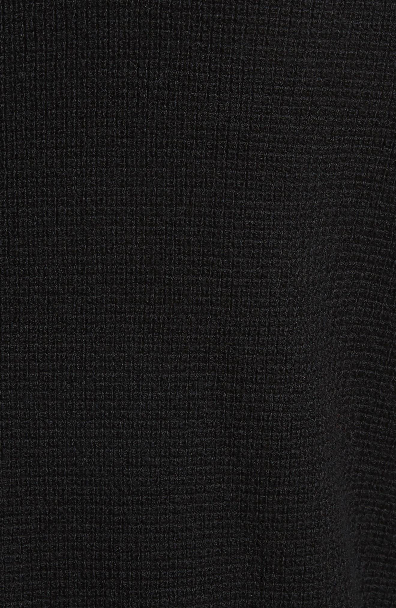 Long Sleeve Wool Henley,                             Alternate thumbnail 5, color,                             Black
