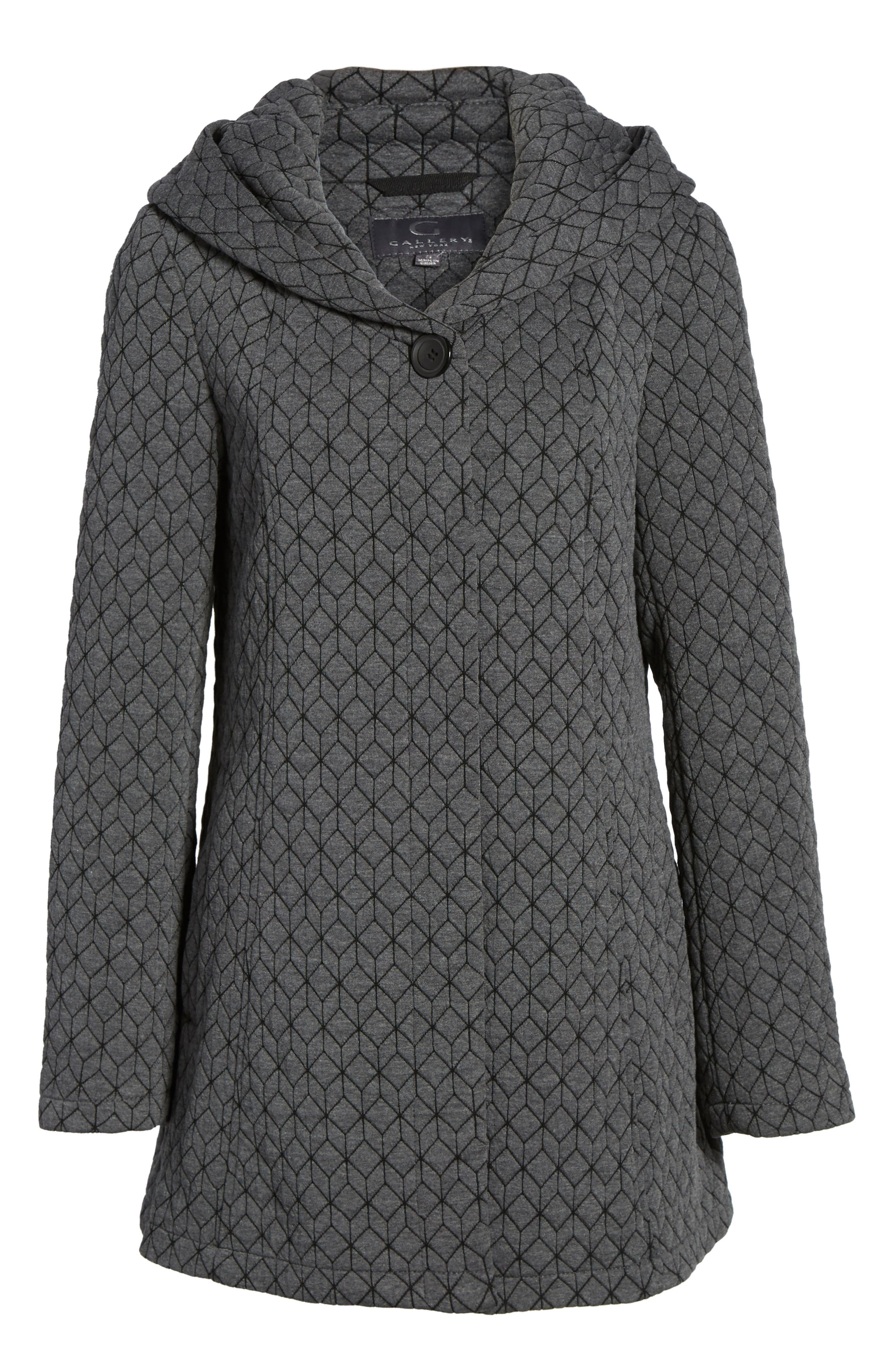 Alternate Image 6  - Gallery Cozy Knit Coat