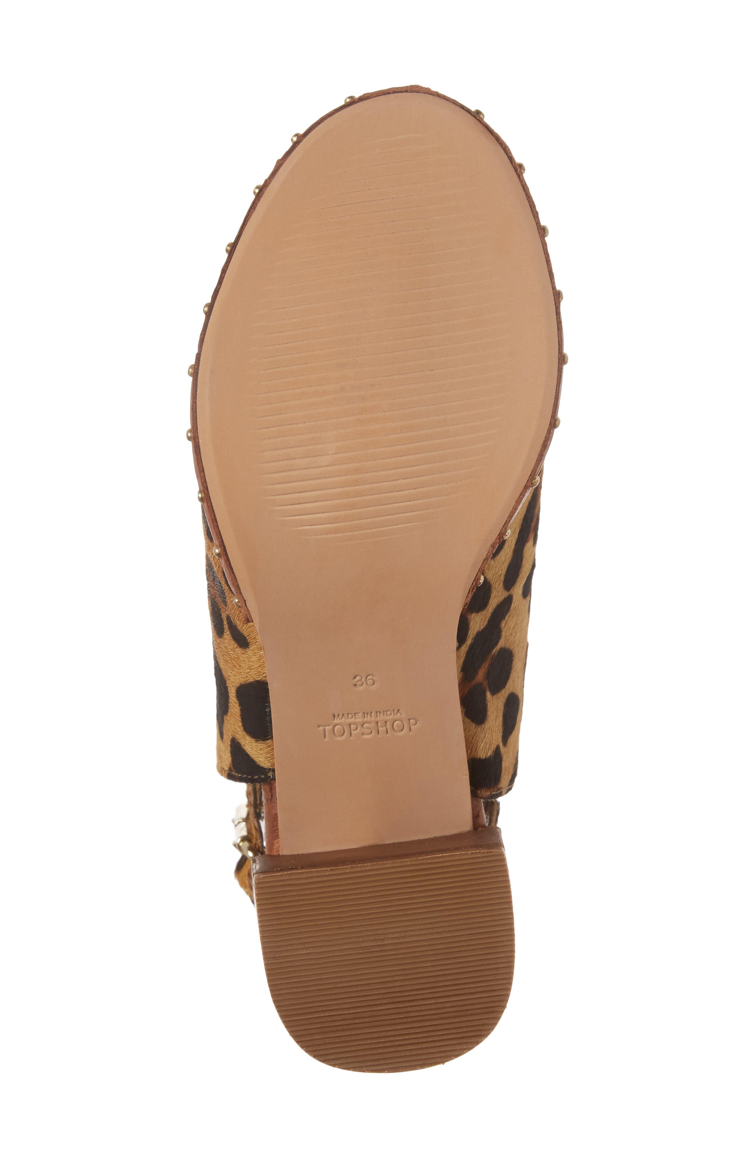 North Studded Bootie Sandal,                             Alternate thumbnail 6, color,                             Leopard