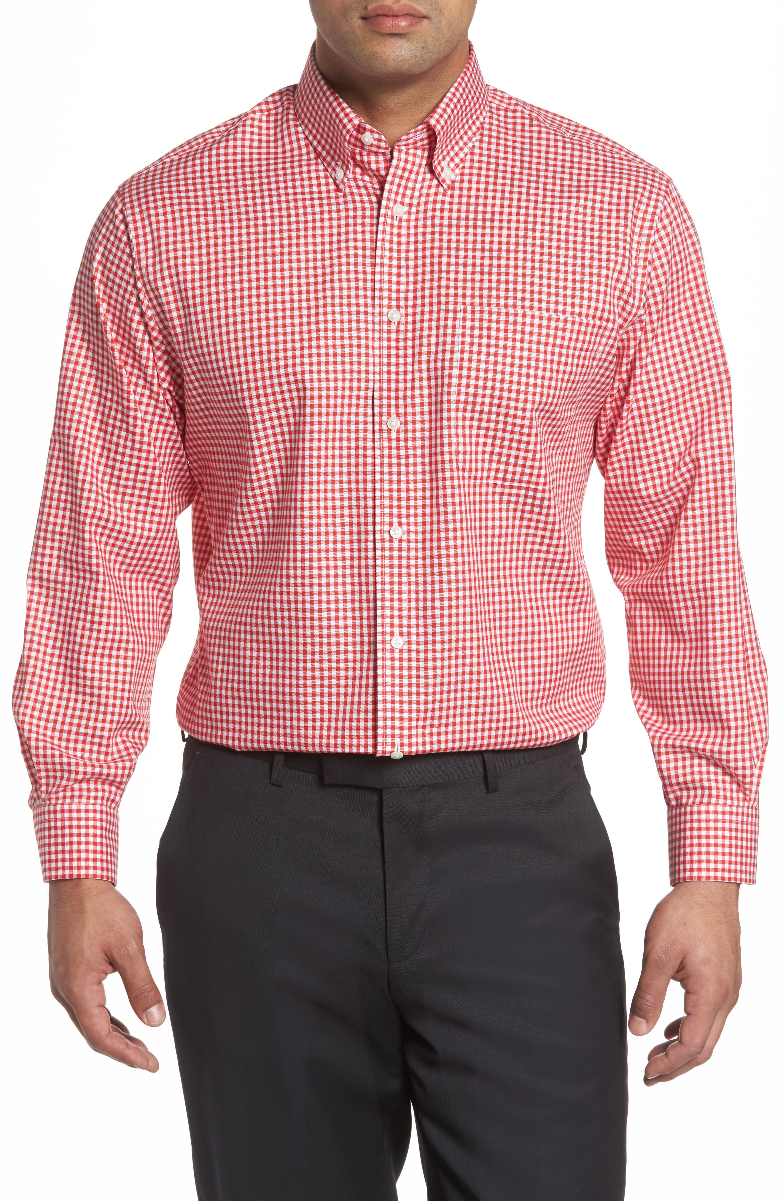Alternate Image 2  - Nordstrom Men's Shop Classic Fit Non-Iron Gingham Dress Shirt (Online Only)