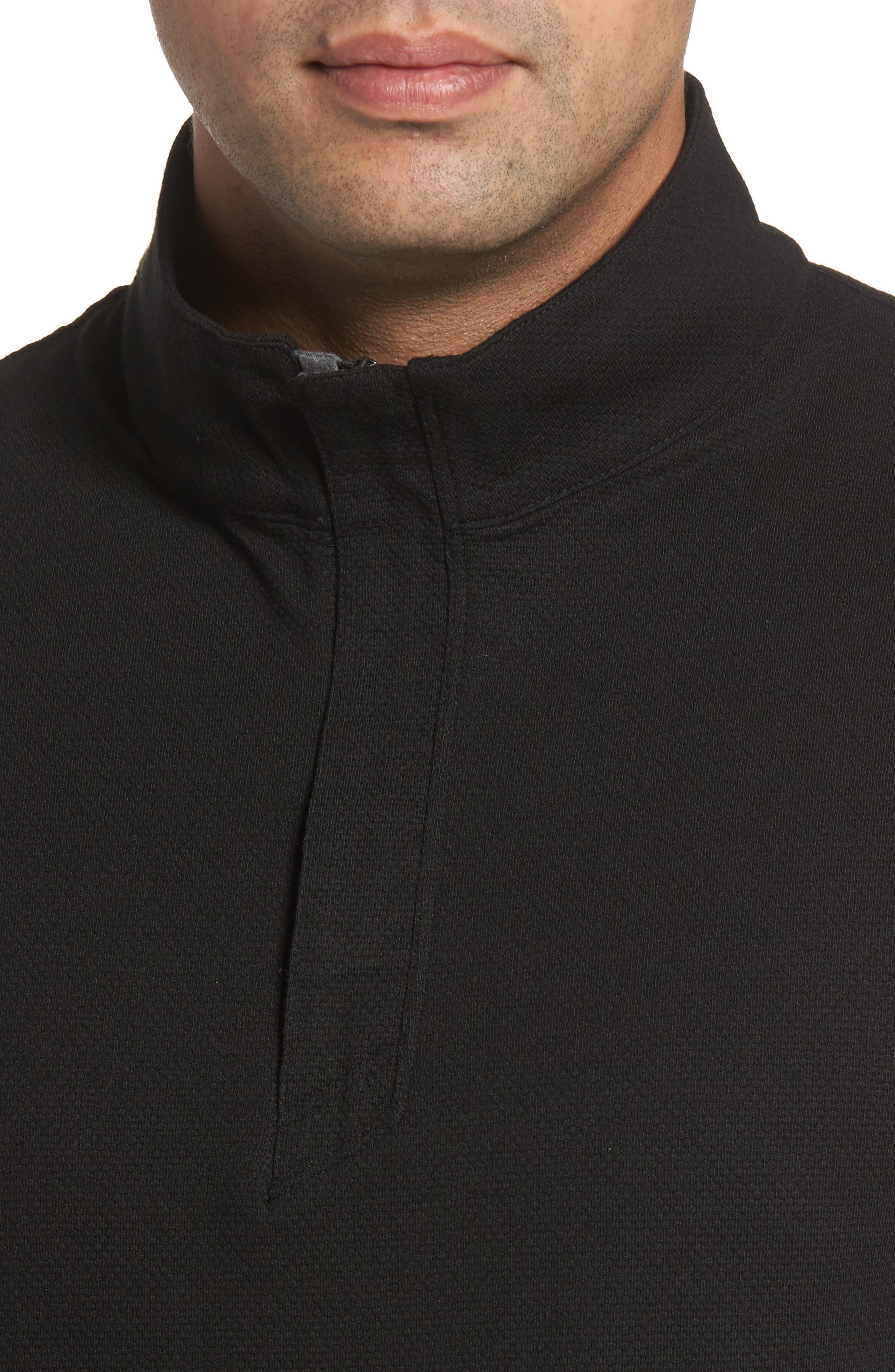 Hewitt Quarter Zip Pullover,                             Alternate thumbnail 4, color,                             Black