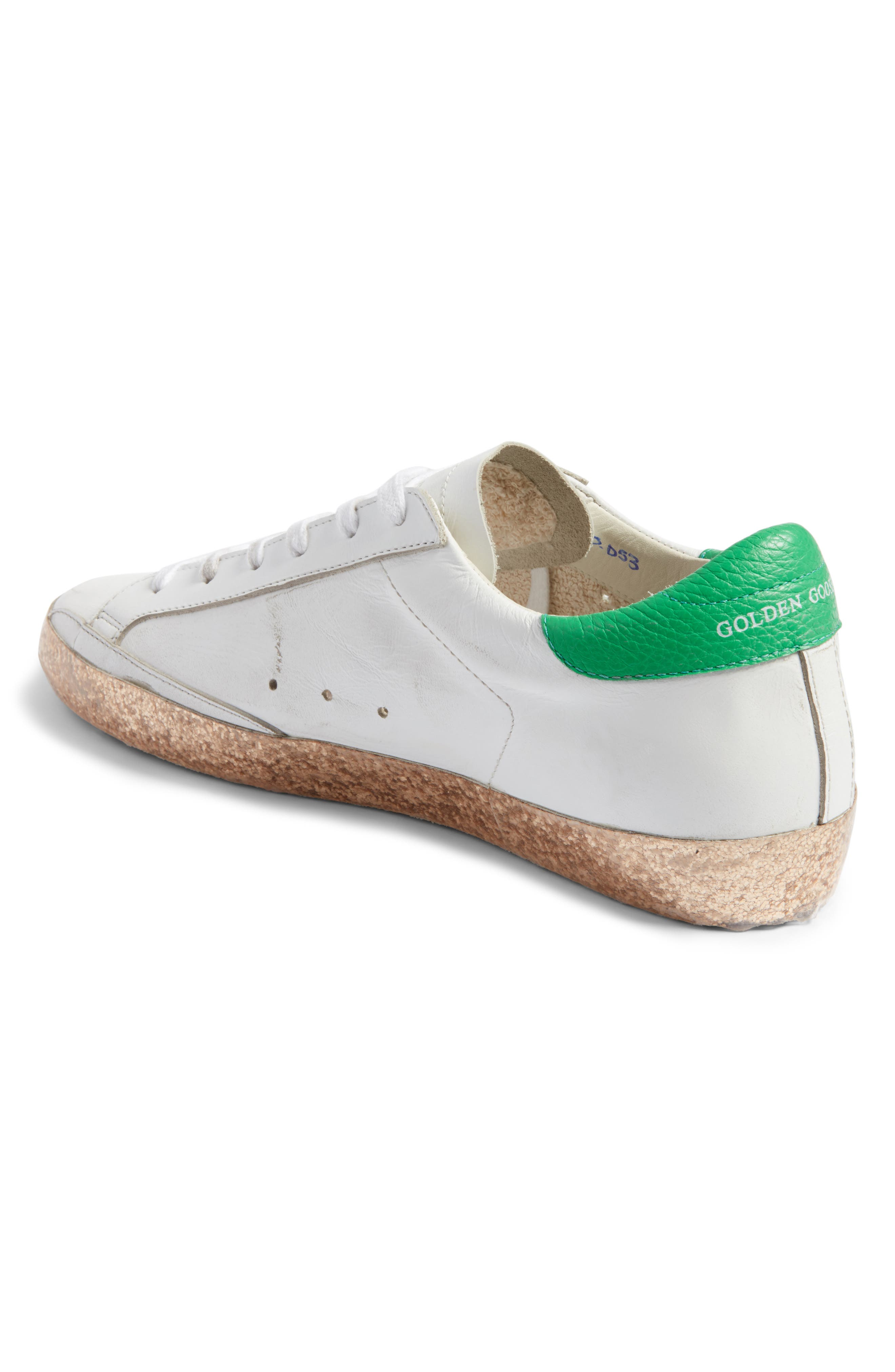 Superstar Low Top Sneaker,                             Alternate thumbnail 2, color,                             White Leather/ Gold