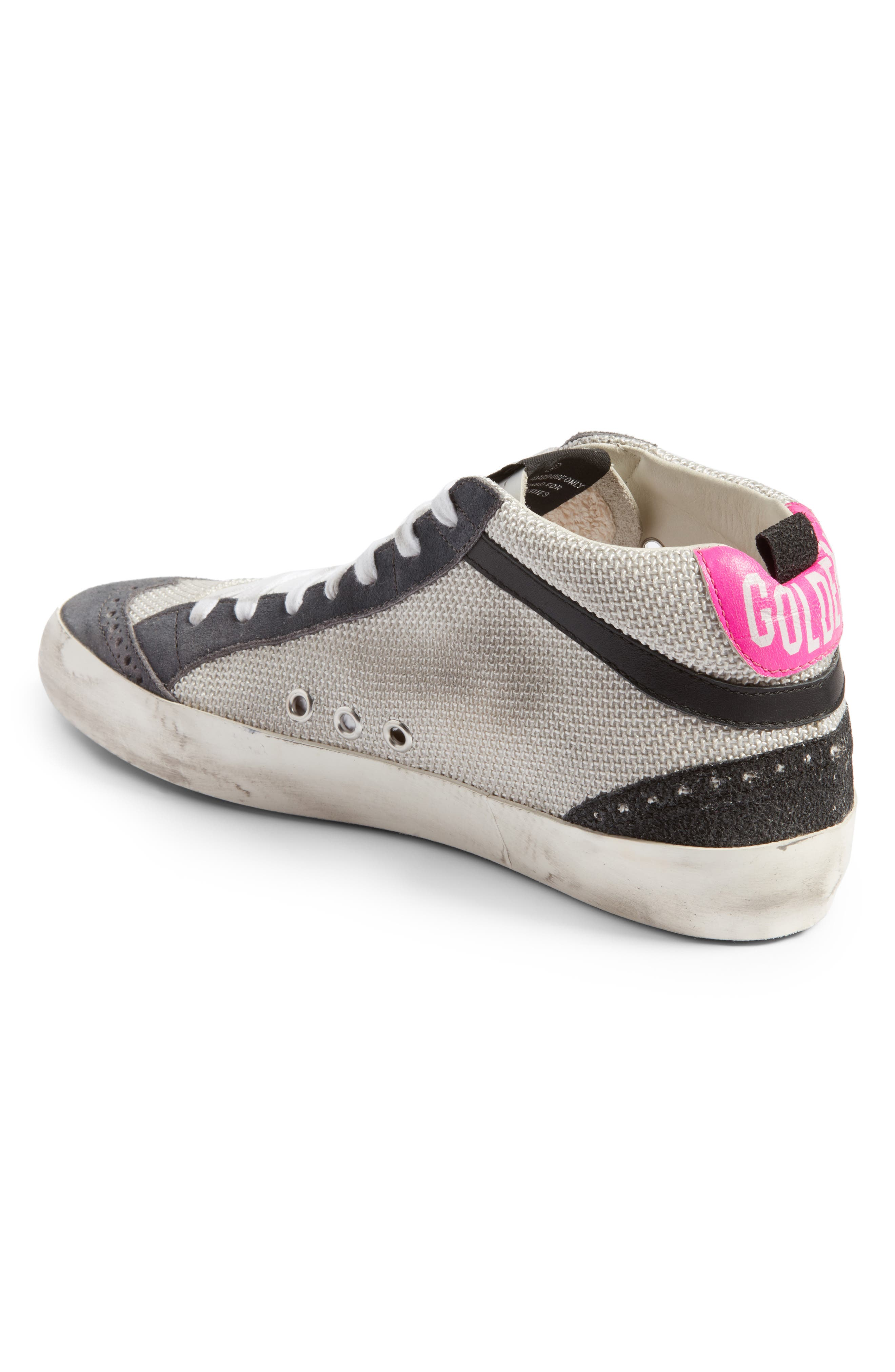 Star Mid Top Sneaker,                             Alternate thumbnail 2, color,                             Grey/ Pink