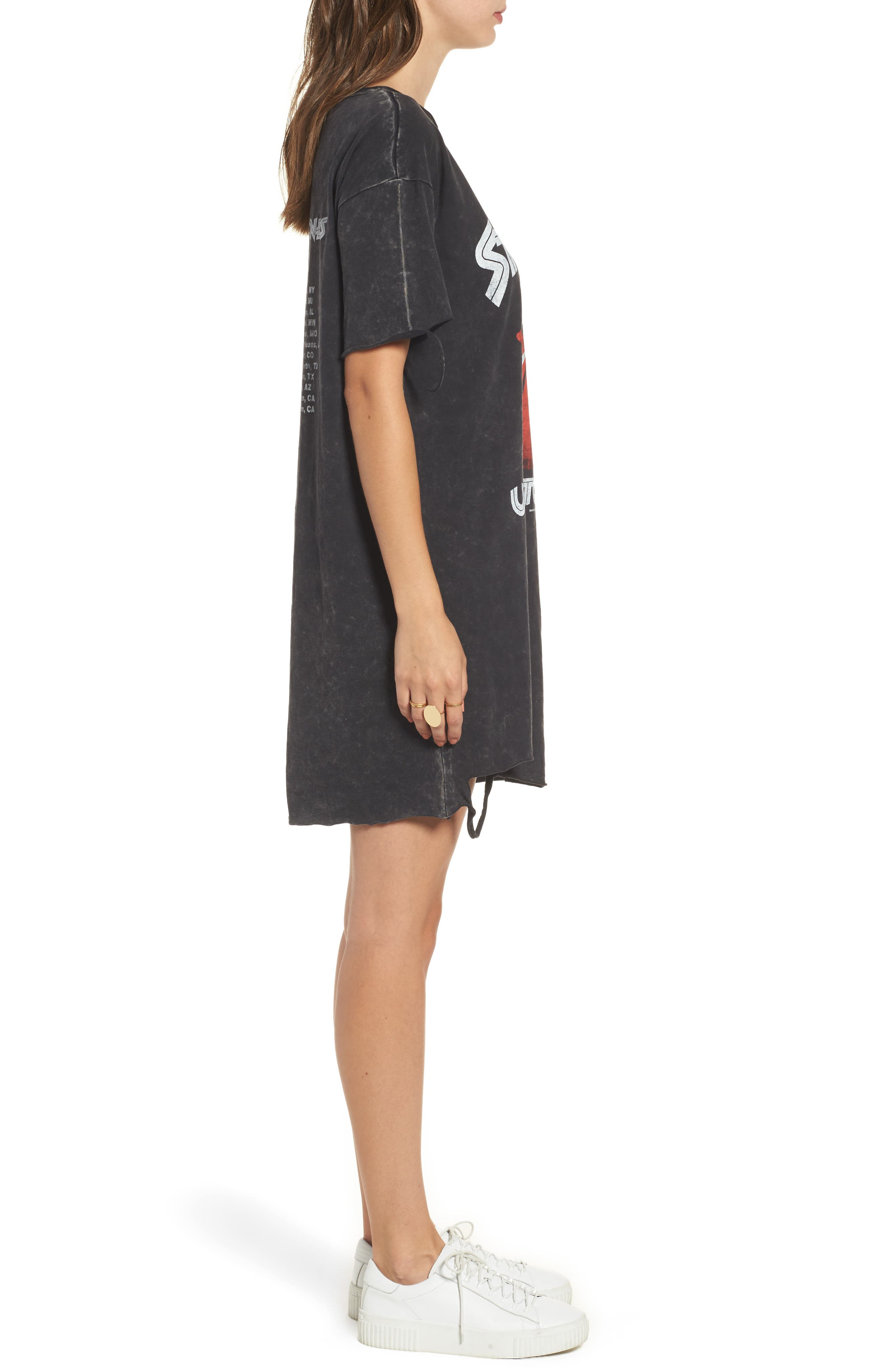 Alternate Image 3  - Mimi Chica Stones Distressed Band T-Shirt Dress