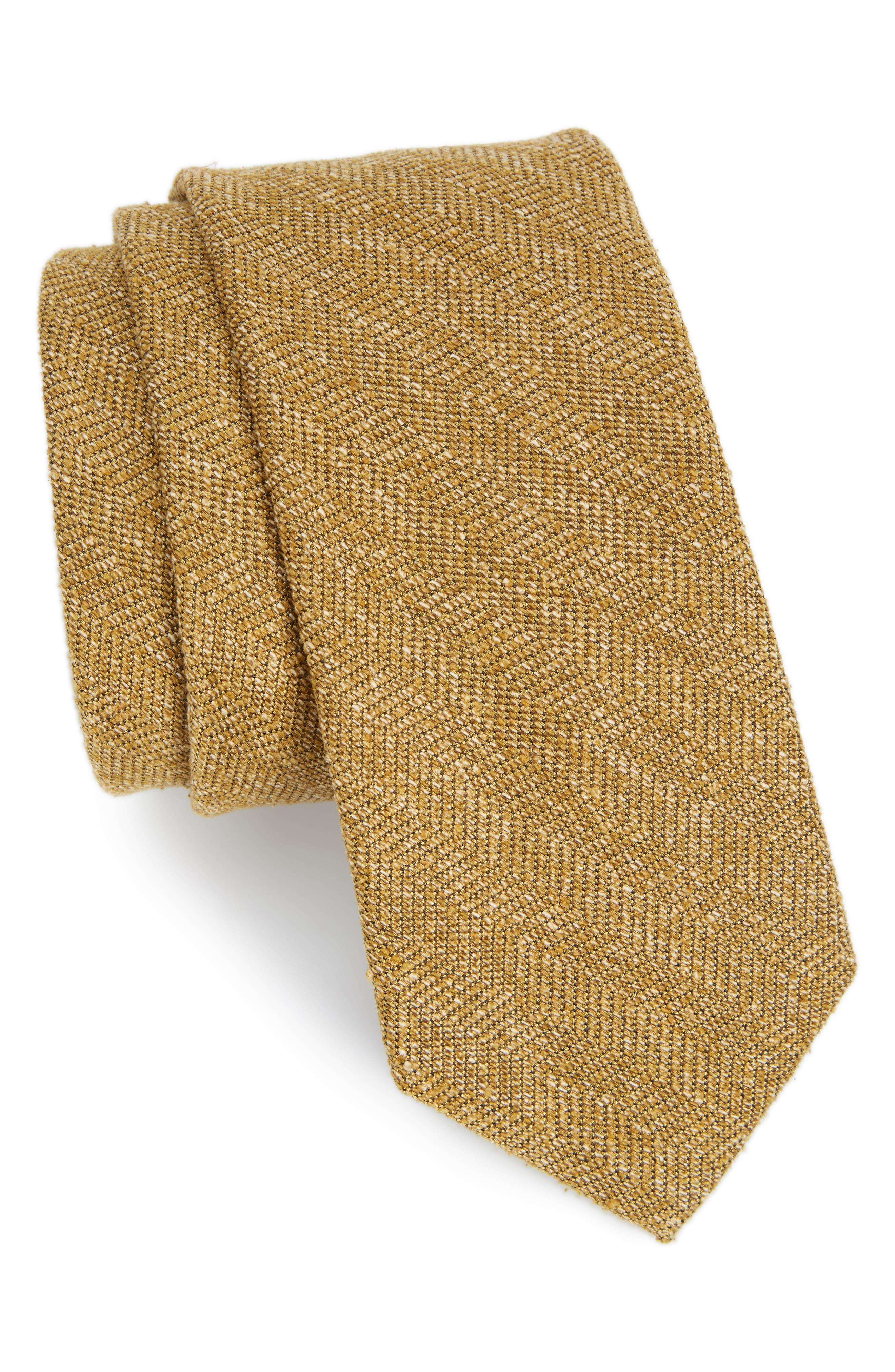 THE TIE BAR Zigzag Silk Tie
