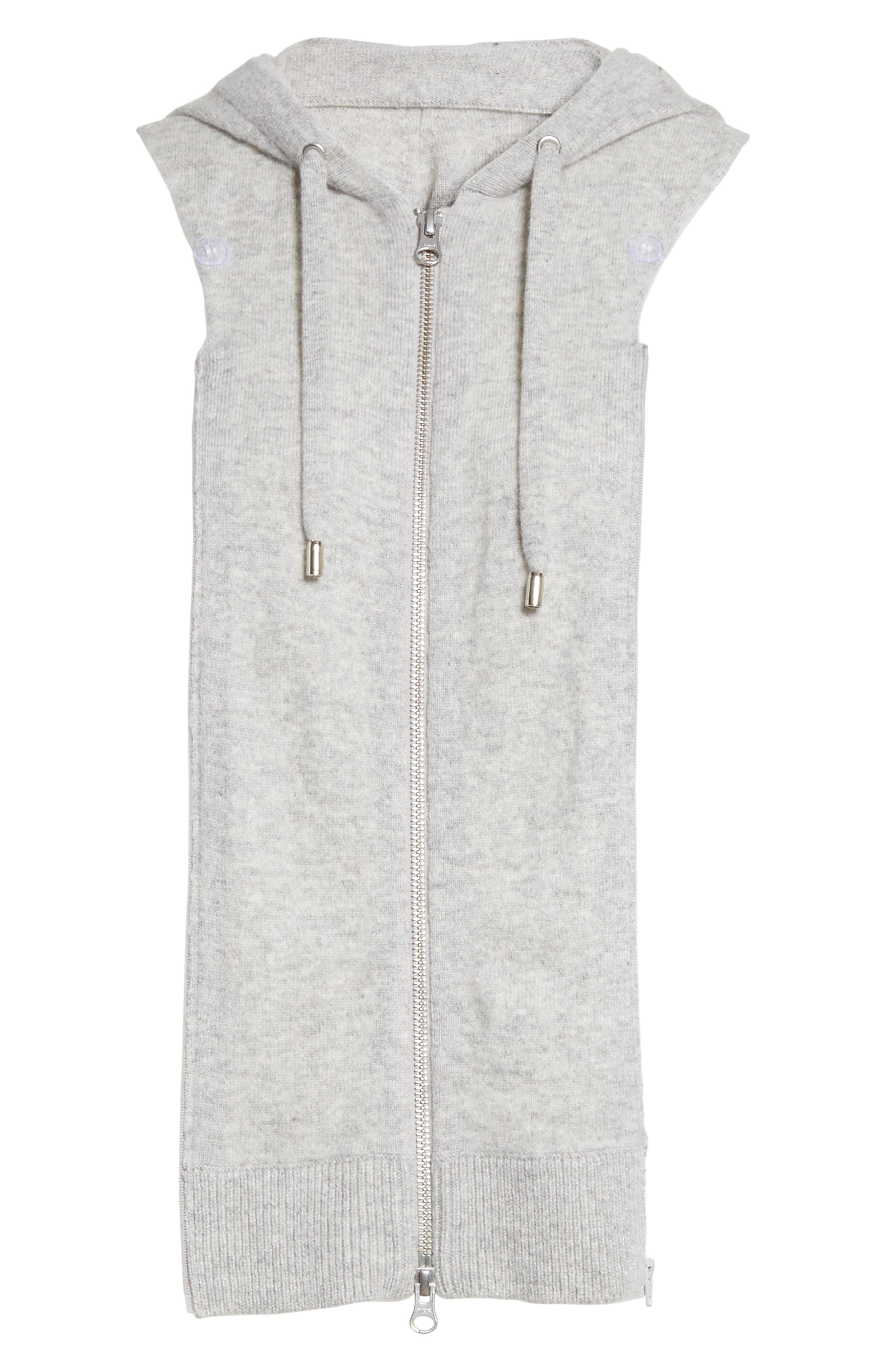Cashmere Hoodie Dickey,                             Main thumbnail 1, color,                             Grey