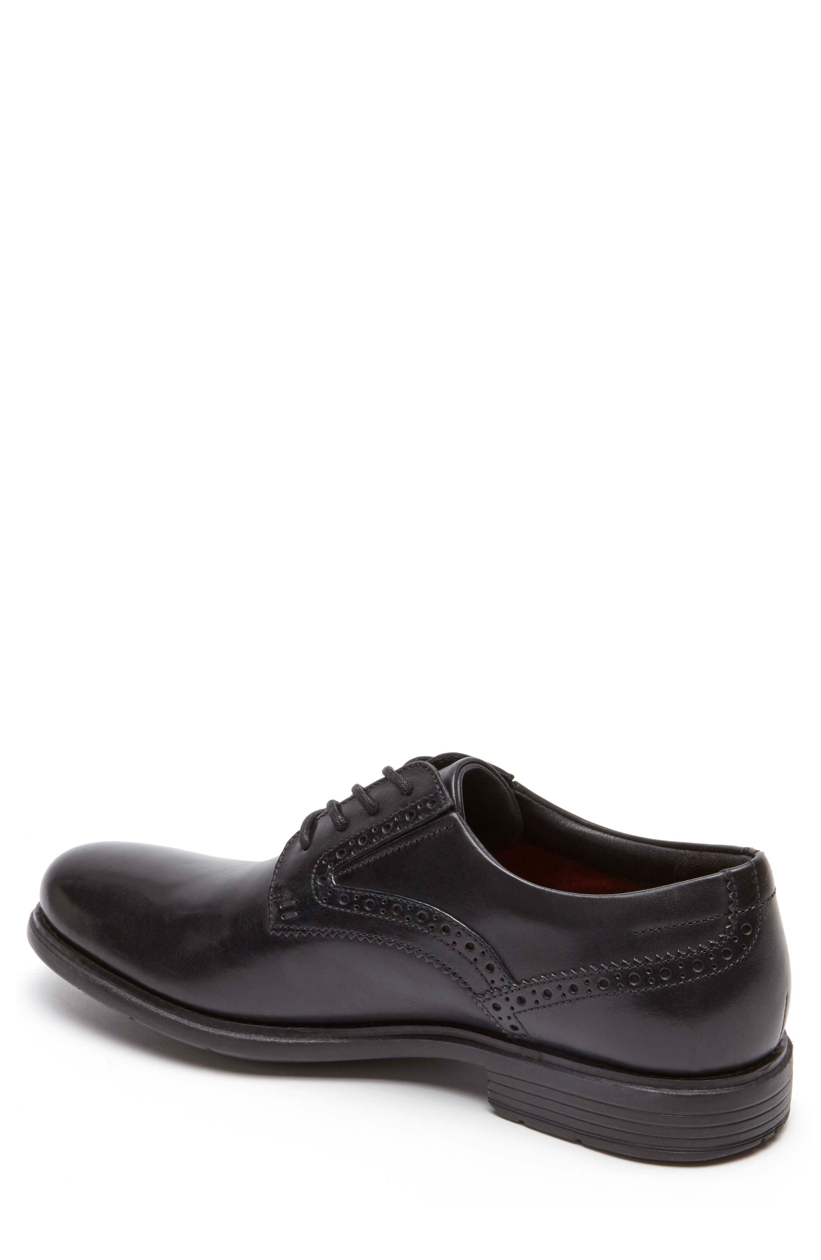 Total Motion Classic Dress Plain Toe Derby,                             Alternate thumbnail 2, color,                             Black Leather