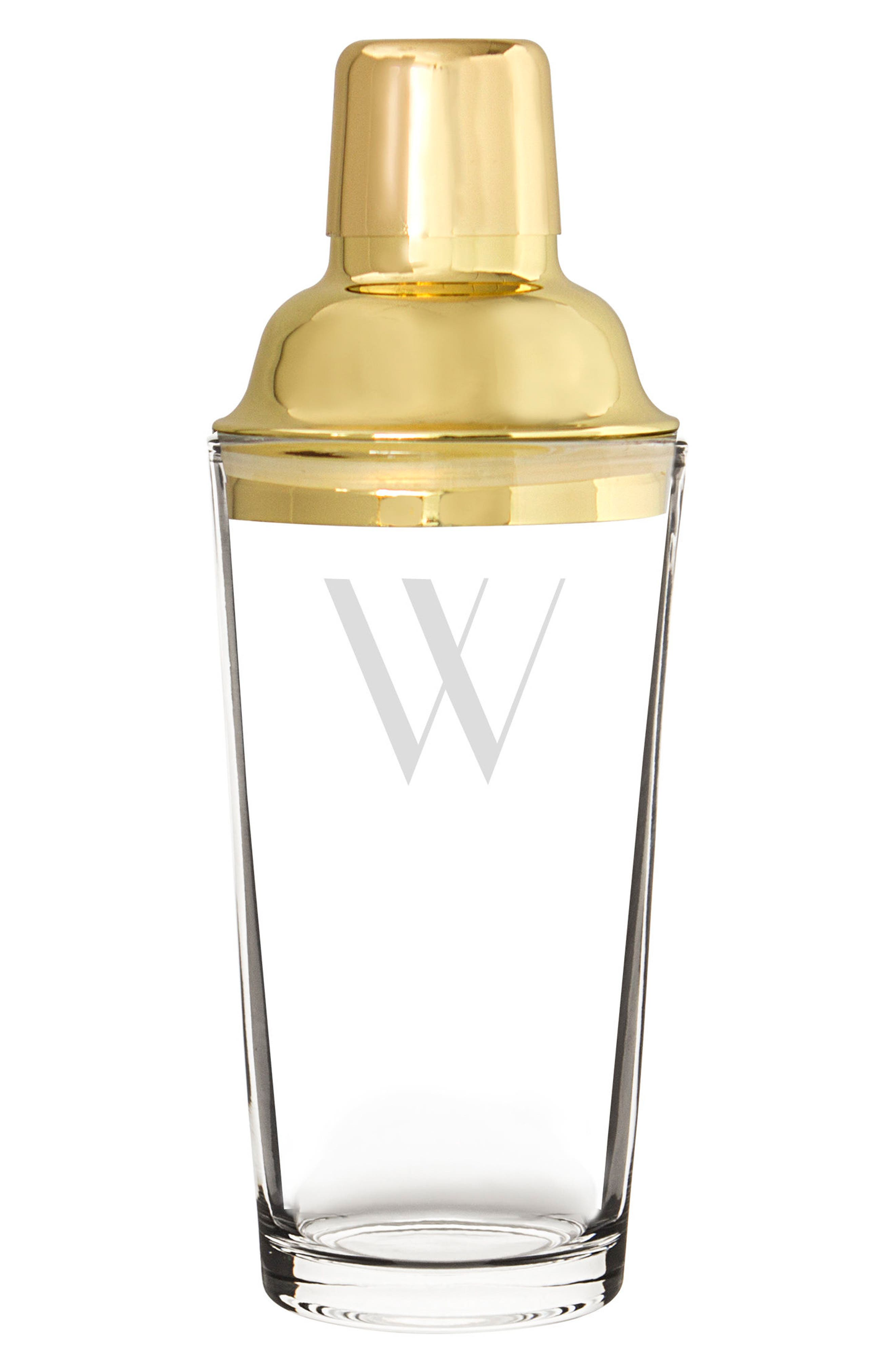 Alternate Image 1 Selected - Cathy's Concepts Monogram Goldtone Cocktail Shaker