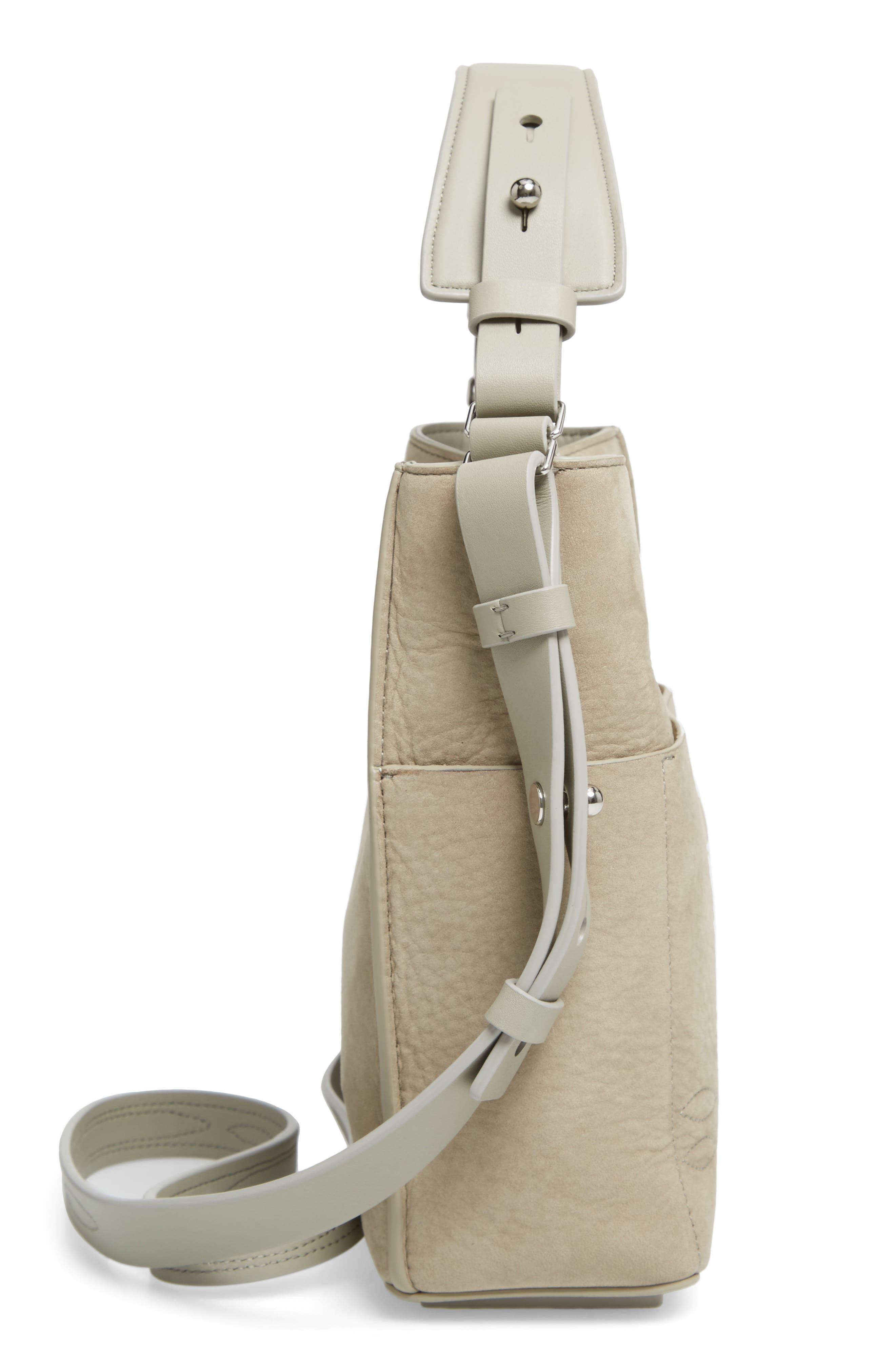 Cooper Mini Leather Tote,                             Alternate thumbnail 3, color,                             Light Cement Grey