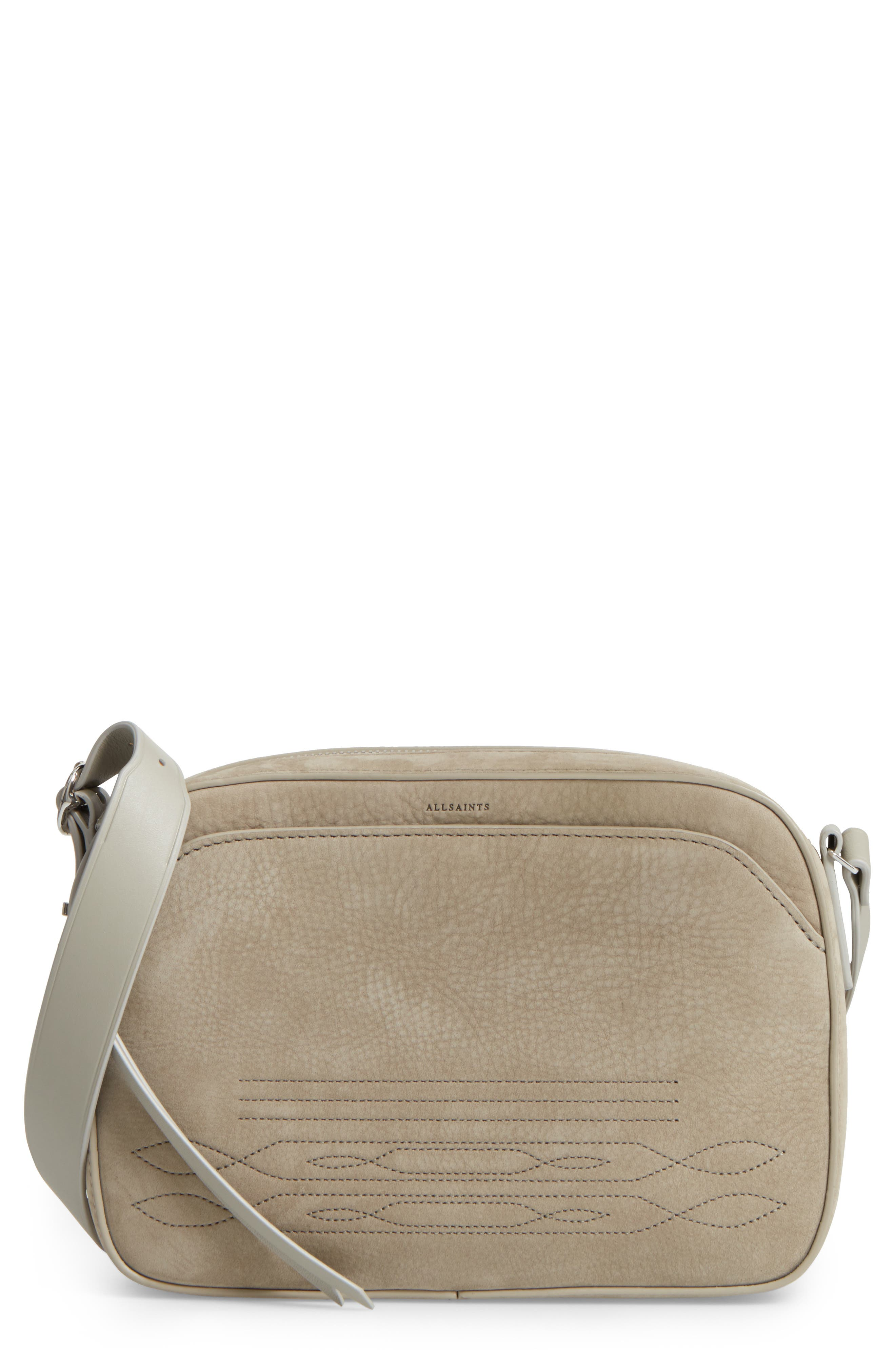 ALLSAINTS Cooper Nubuck Leather Shoulder Bag