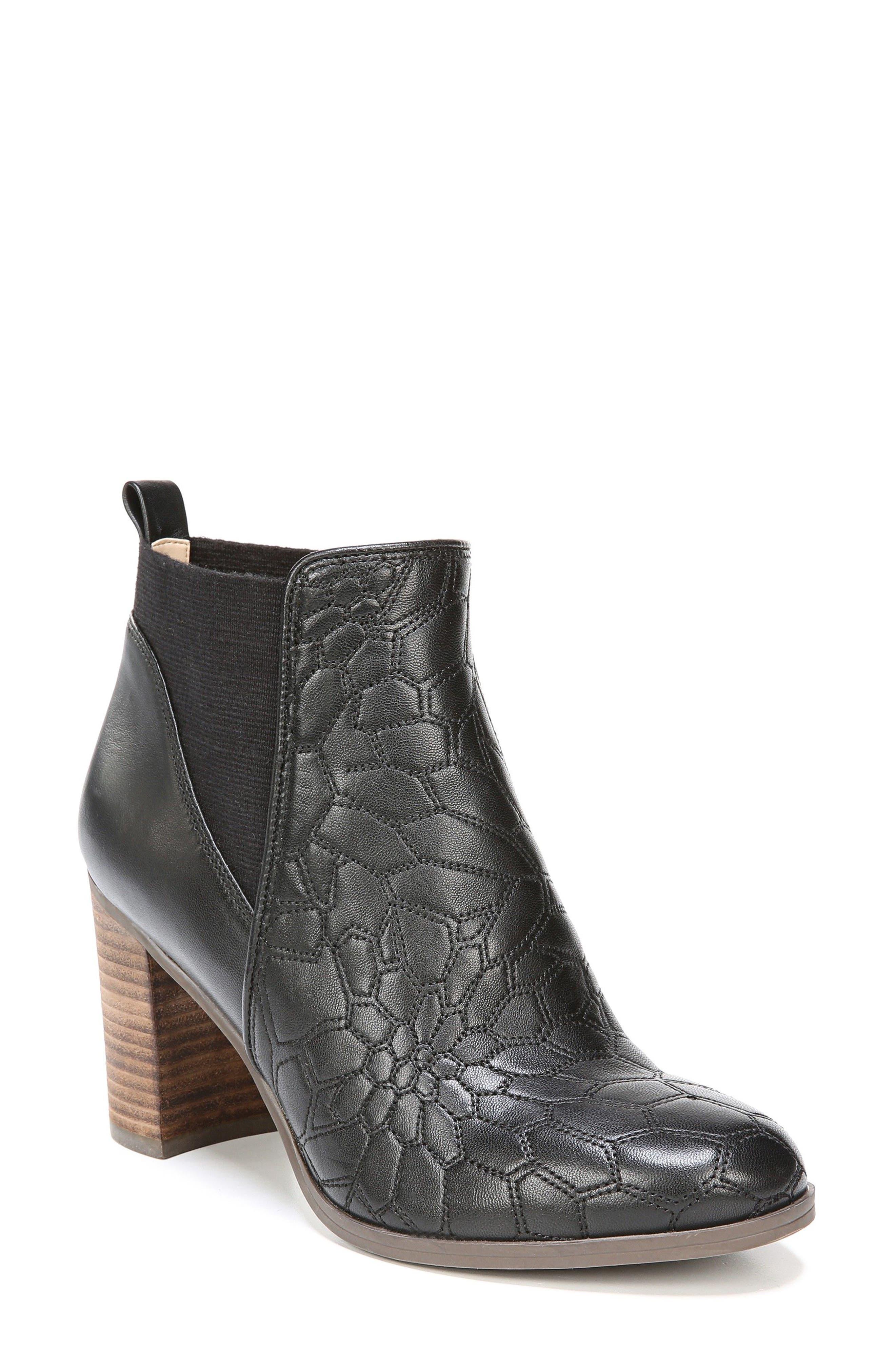 Dixie Bootie,                         Main,                         color, Black Leather