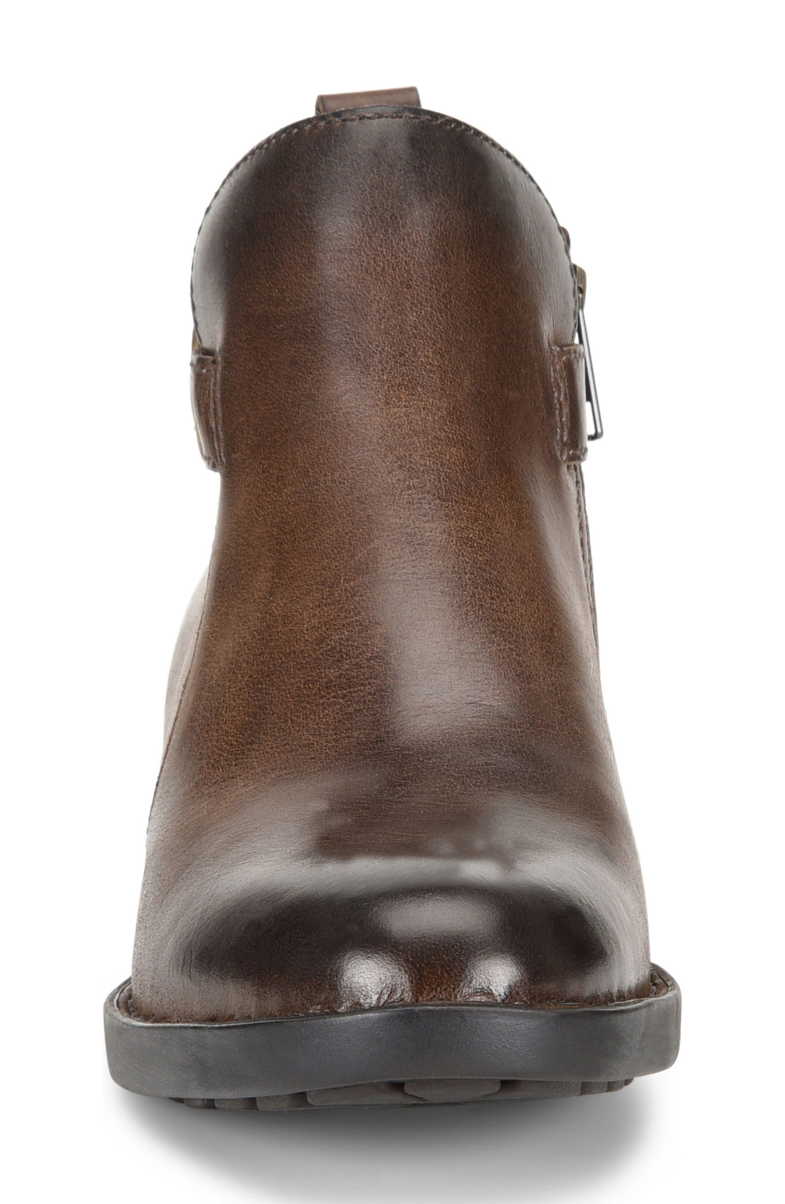 Timms Bootie,                             Alternate thumbnail 4, color,                             Brown Leather