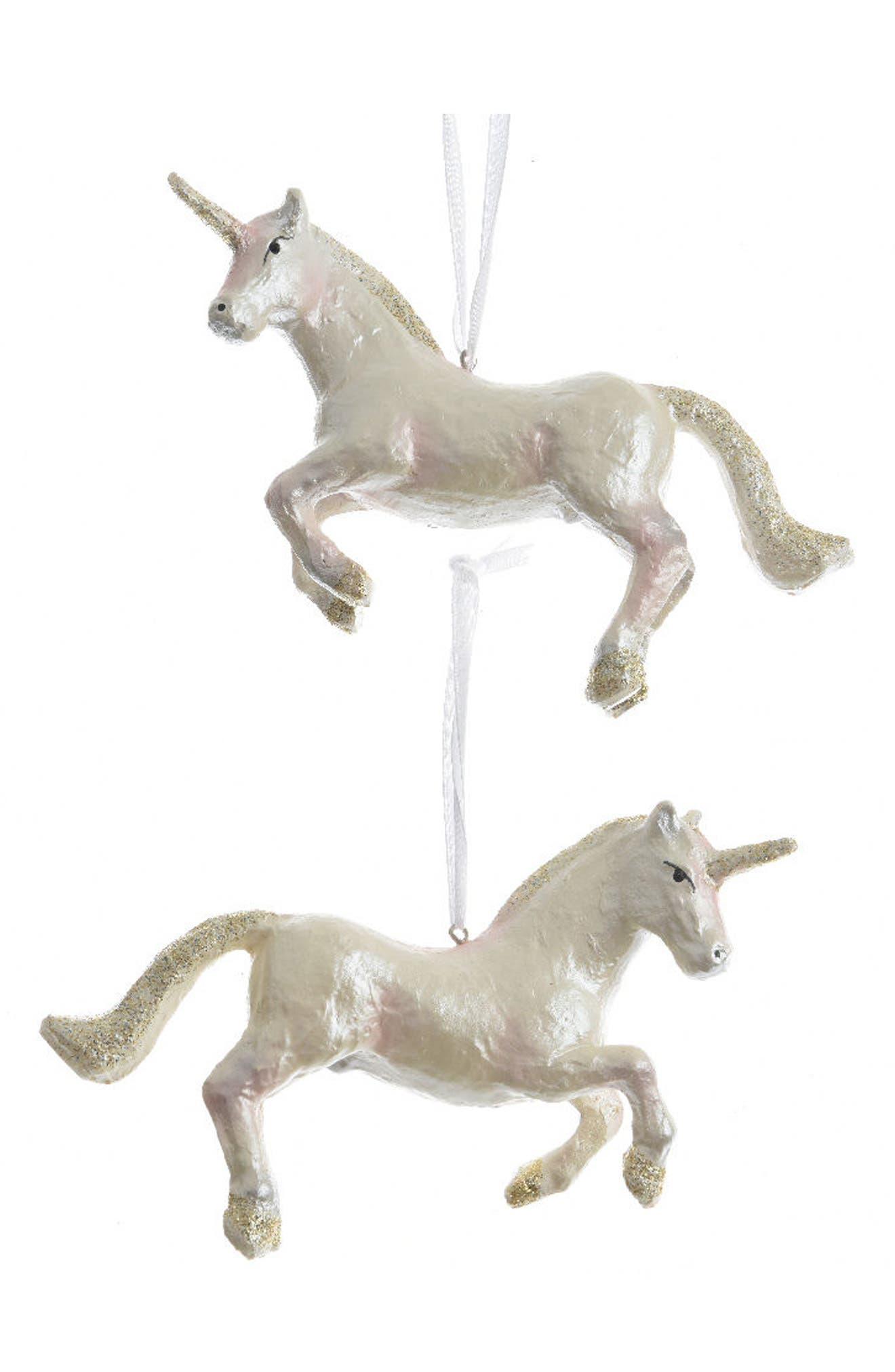 Alternate Image 1 Selected - Decoris Unicorn Ornament