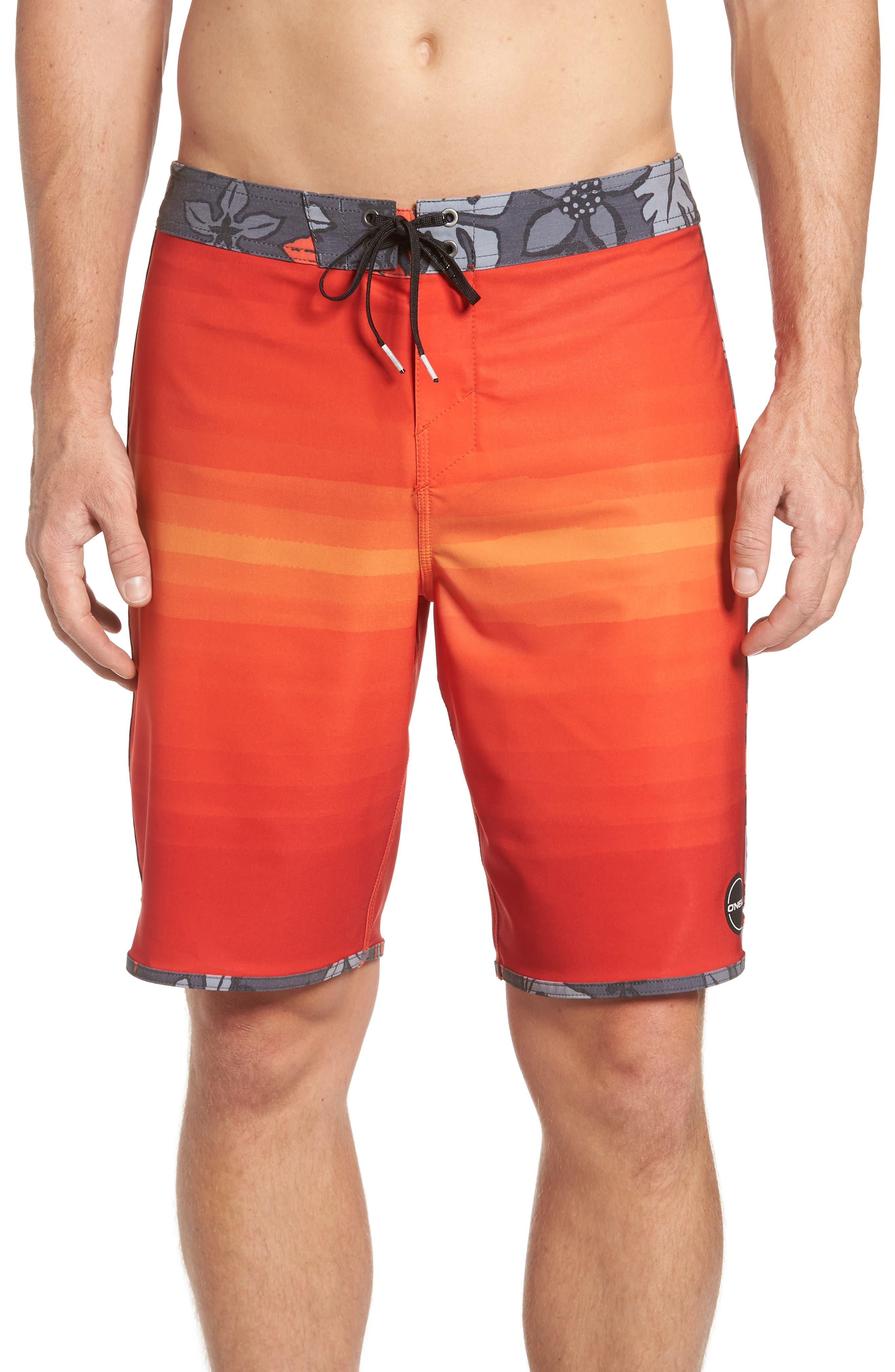 Hyperfreak Coalition Board Shorts,                             Main thumbnail 1, color,                             Neon Red