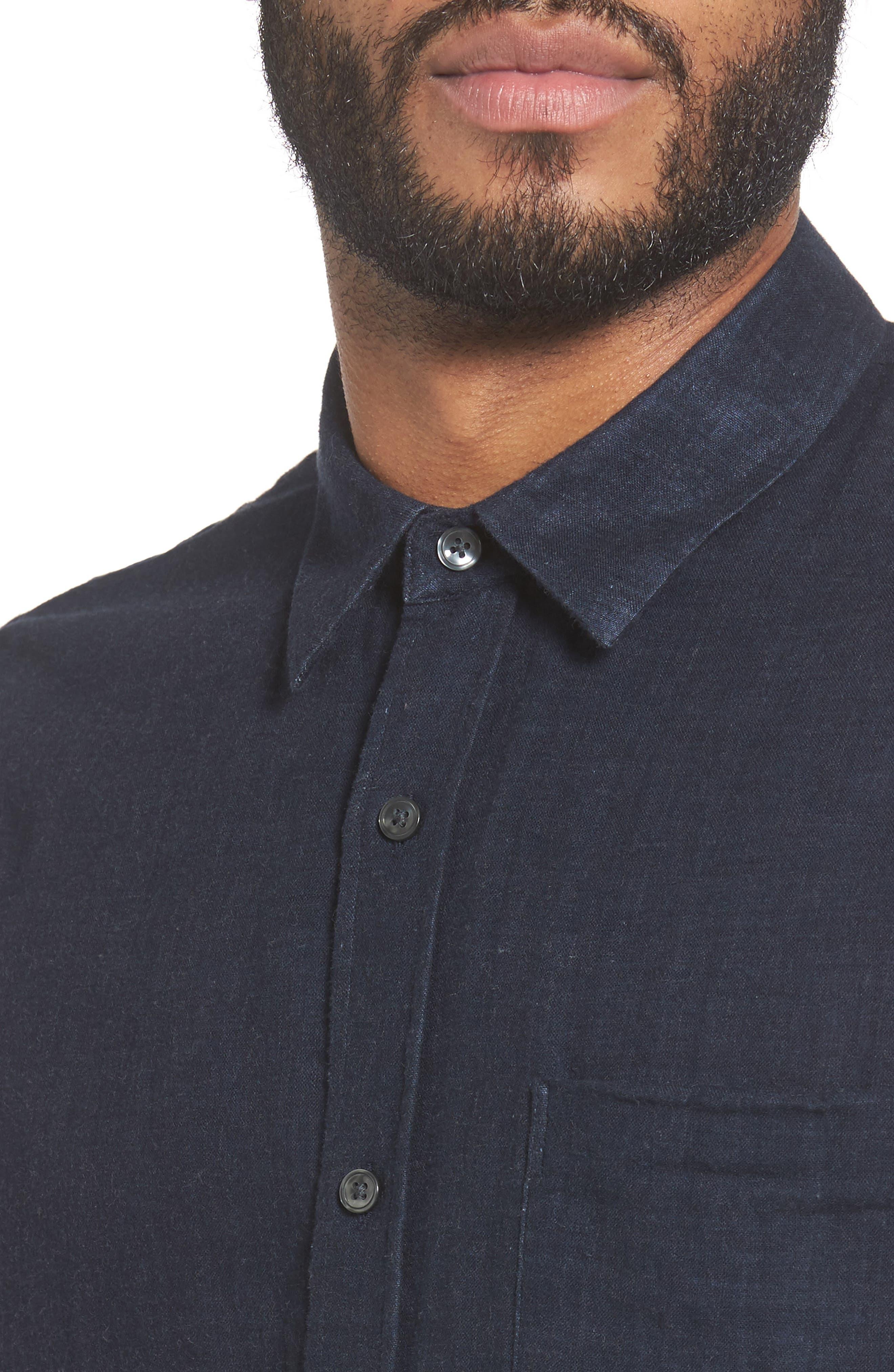 Alternate Image 4  - Vince Regular Fit Solid Sport Shirt