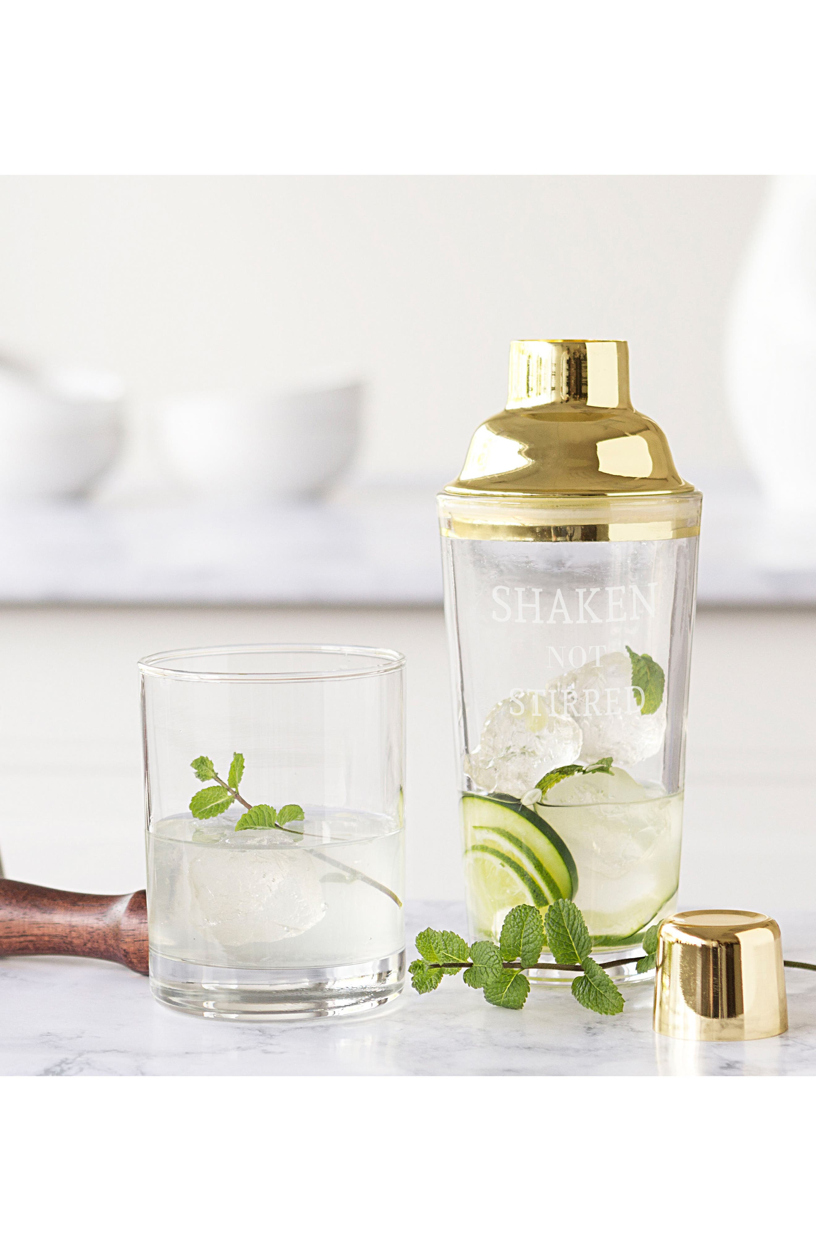 Shaken Not Stirred Cocktail Shaker,                             Alternate thumbnail 5, color,                             Metallic Gold