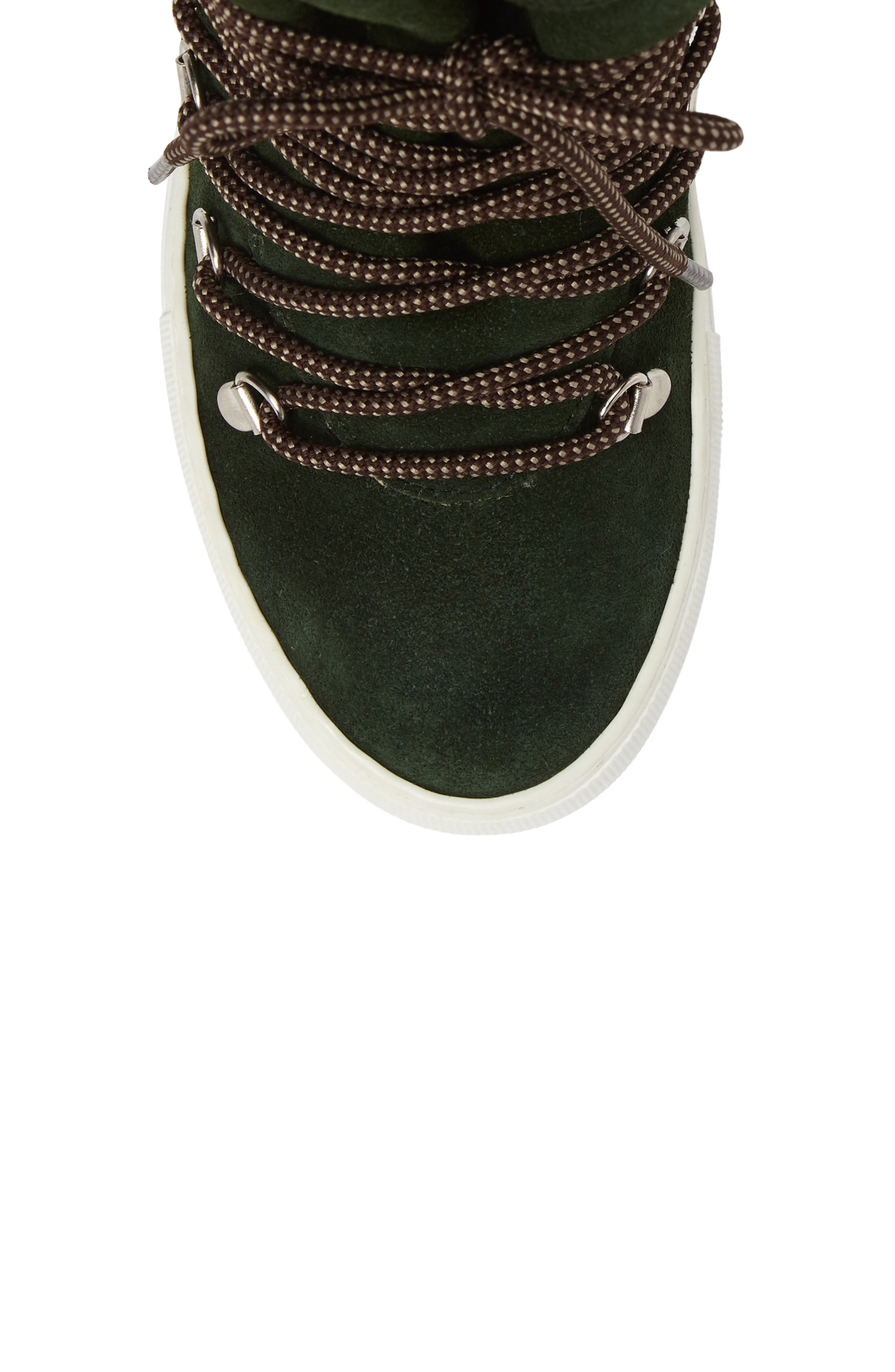 Cimone High Top Sneaker,                             Alternate thumbnail 5, color,                             Green Suede