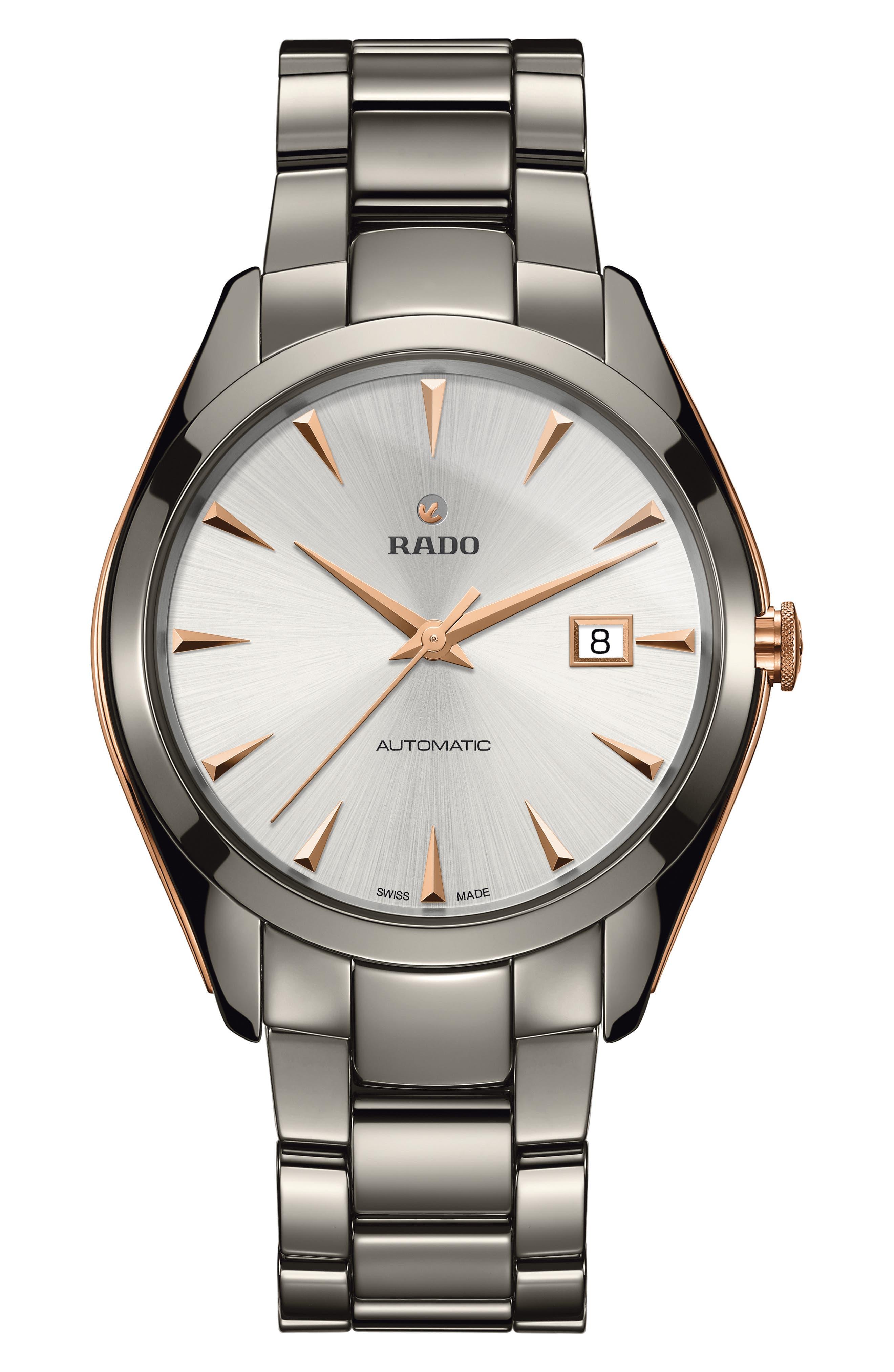 HyperChrome Automatic Bracelet Watch, 42mm,                             Main thumbnail 1, color,                             Plasma/ Rose Gold