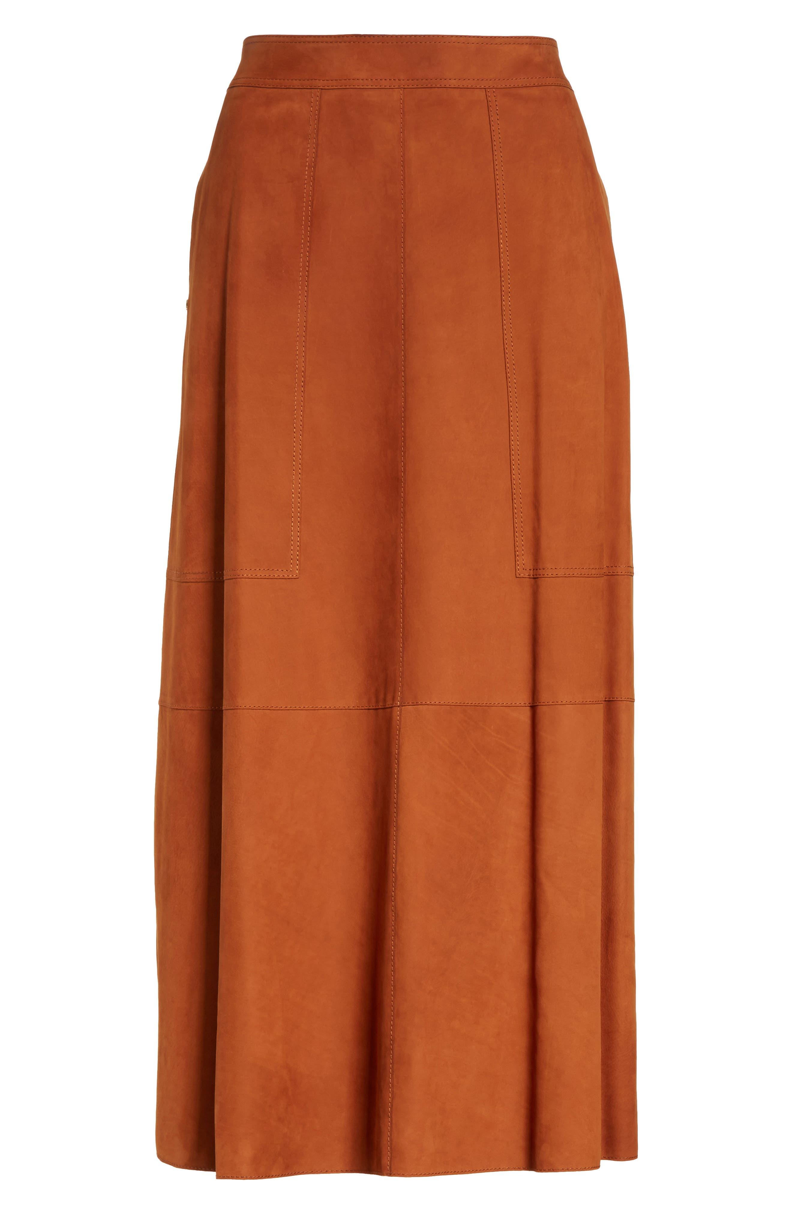 Alternate Image 6  - Lafayette 148 New York Rosella Leather Skirt