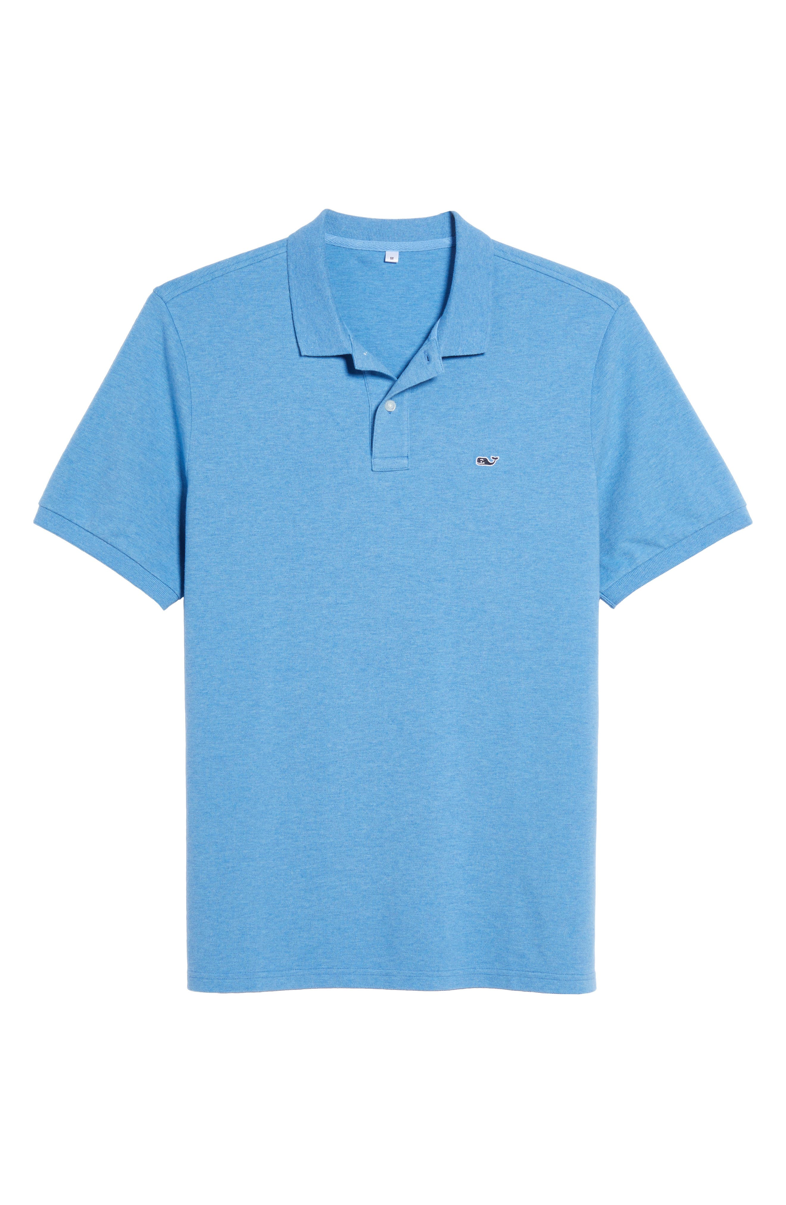 Stretch Piqué Polo,                             Alternate thumbnail 6, color,                             Dockside Blue